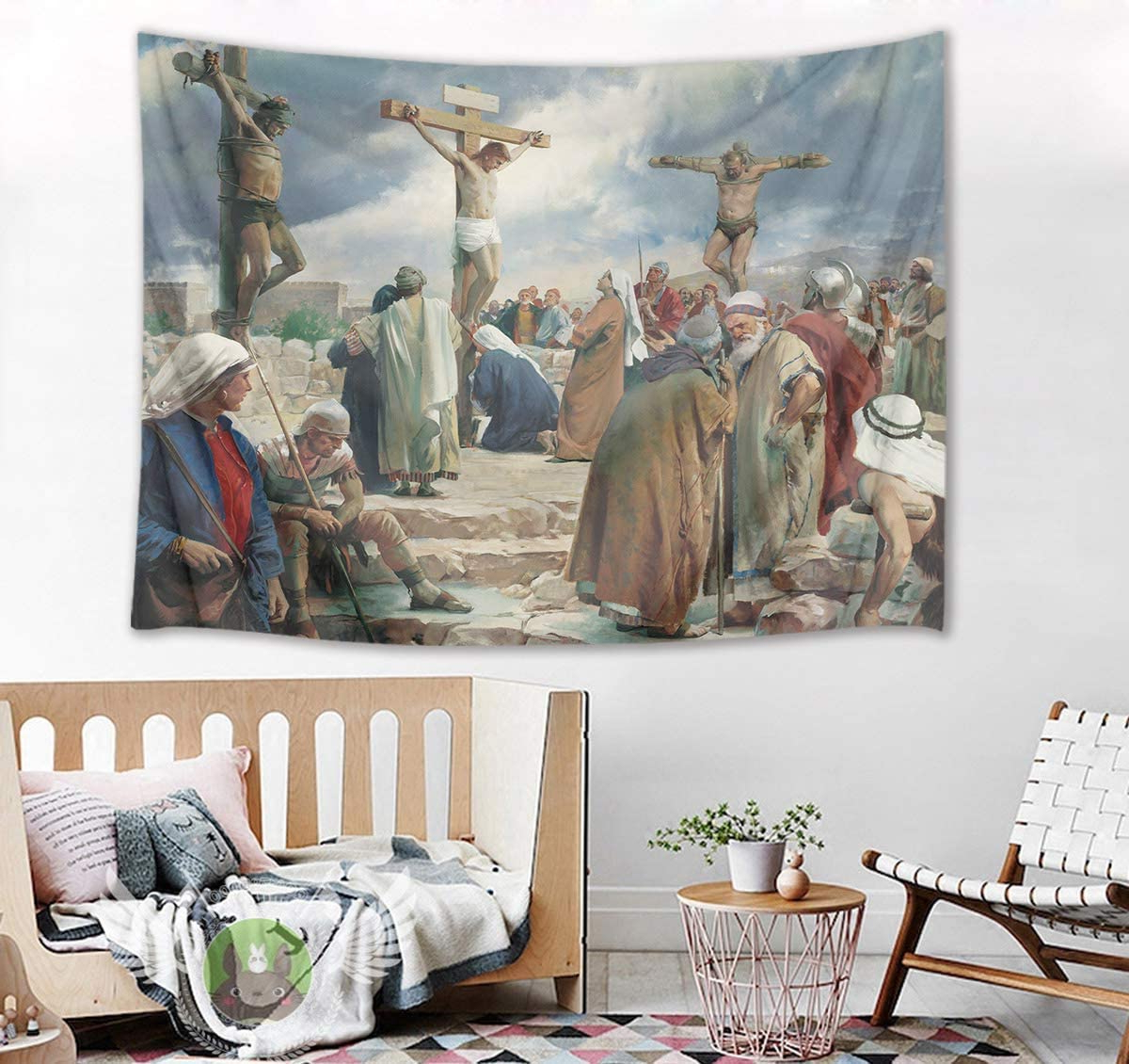 Trendy Blended Fabric Blessings Of Christmas Tapestries Inside Hvest Easter Tapestry Jesus Christ On The Cross Wall Hanging Christian Crucifix Tapestries For Bedroom Living Room Dorm Wall Decor Church Party (View 9 of 20)
