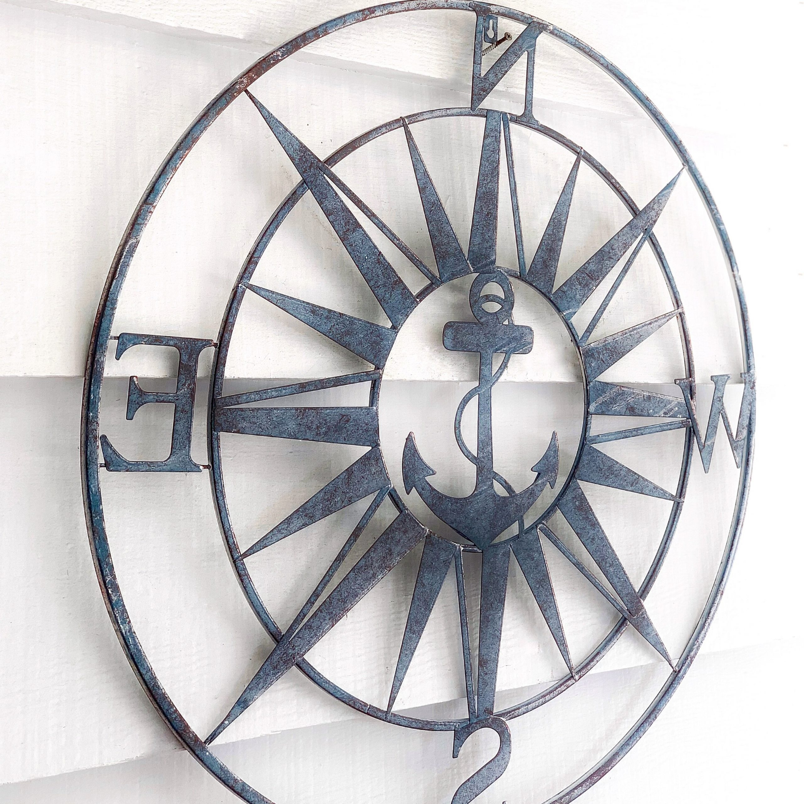 Trendy Compass Metal Wall Décor By Beachcrest Home Within Nautical Anchor Compass Wall Décor (View 17 of 20)