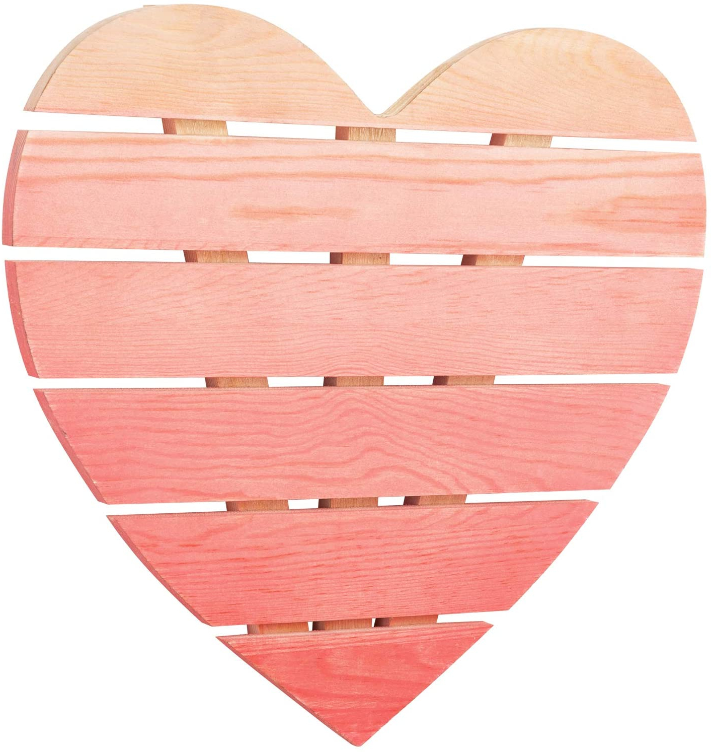 """Trendy Mygift Wall Mounted Pink Heart Wall Decor Ombré Heart Shaped Wood Sign Home Decoration Inside Heart Shaped """"home"""" Sign Wall Décor (View 3 of 20)"""