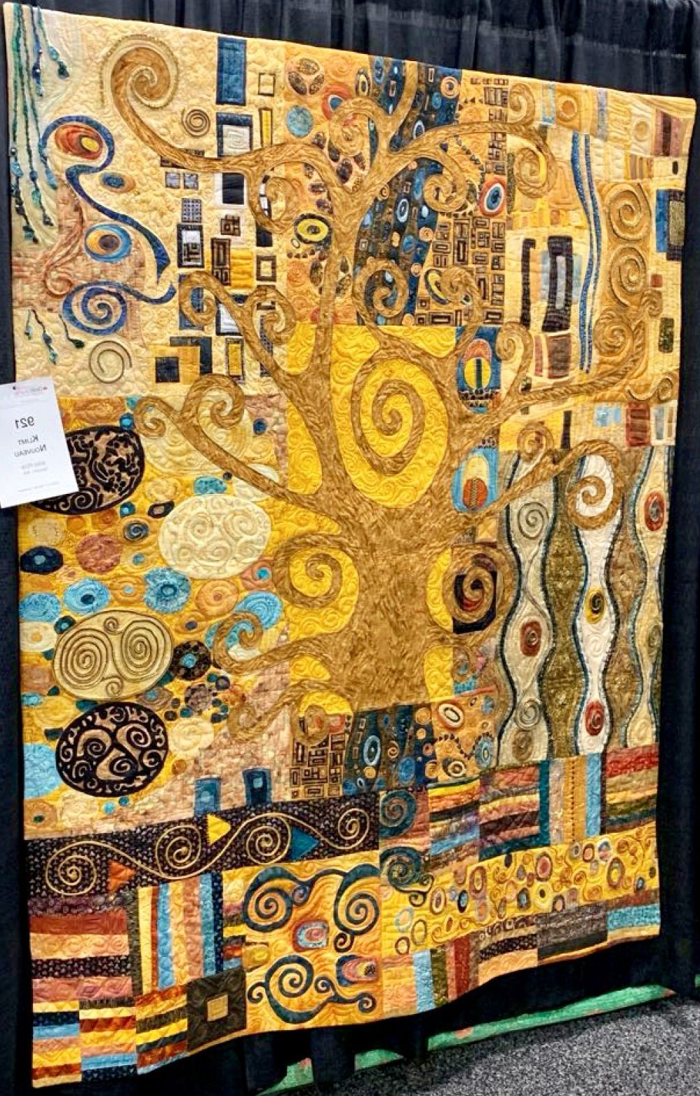 Trendy Over 17 Techniques In One Quilt Klimt Nouveauthe Wild Throughout Blended Fabric Klimt Tree Of Life Wall Hangings (View 13 of 20)