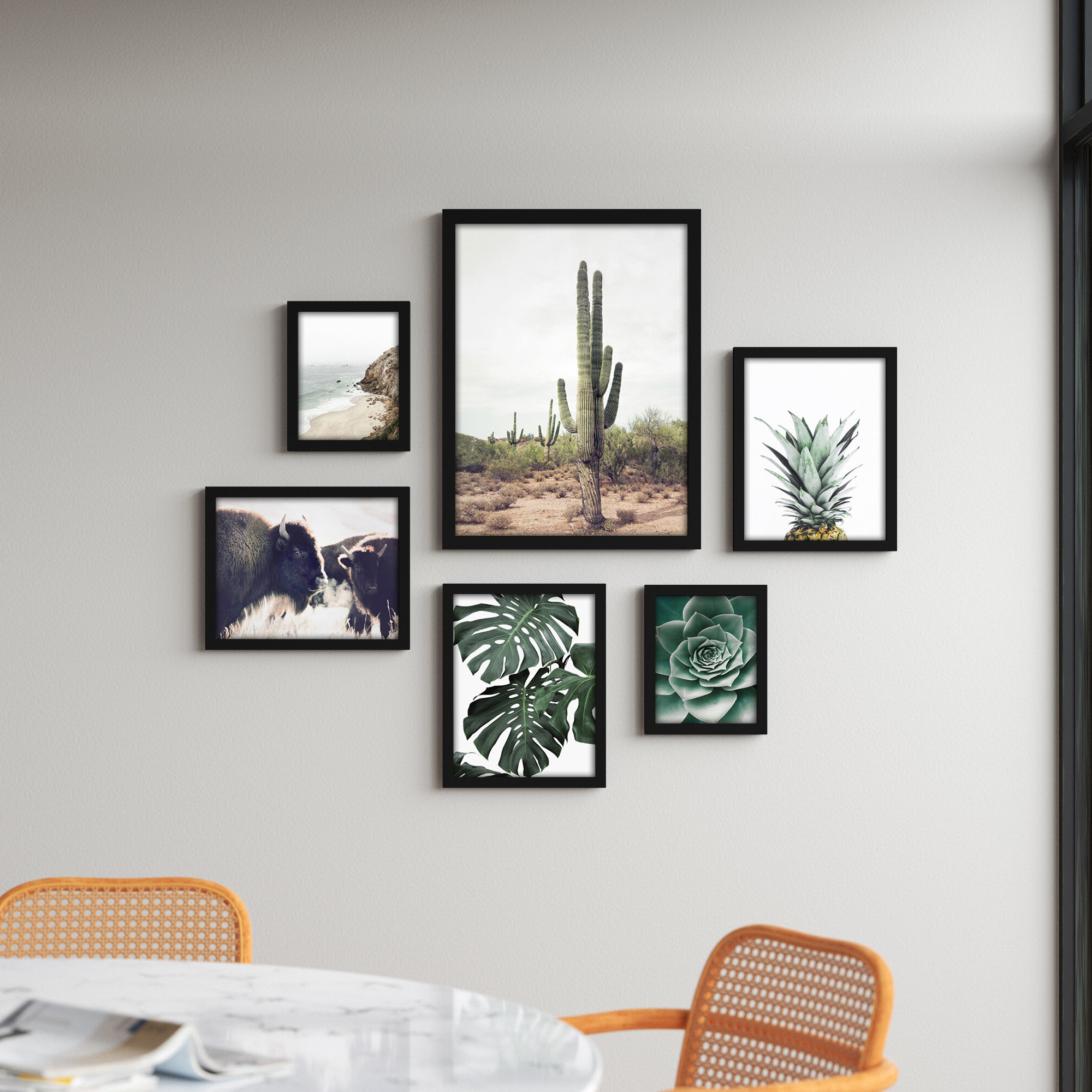 Trendy Plant & Floral Wall Art Within Swallows Wall Decor (set Of 6) By Highland Dunes (View 13 of 20)