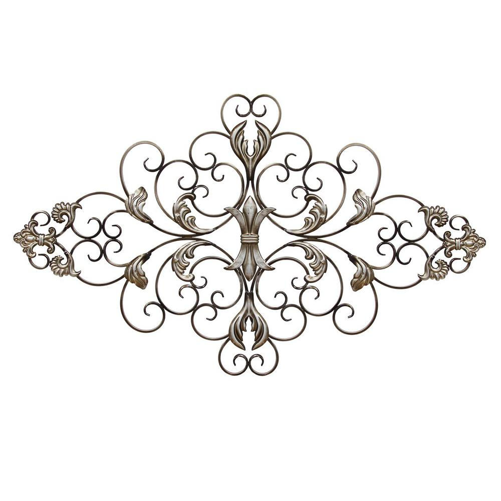Trendy Scroll Wall Décor By Fleur De Lis Living In Stratton Home Decor Ornate Scroll Wall Decor Shd0139 – The Home Depot (View 12 of 20)