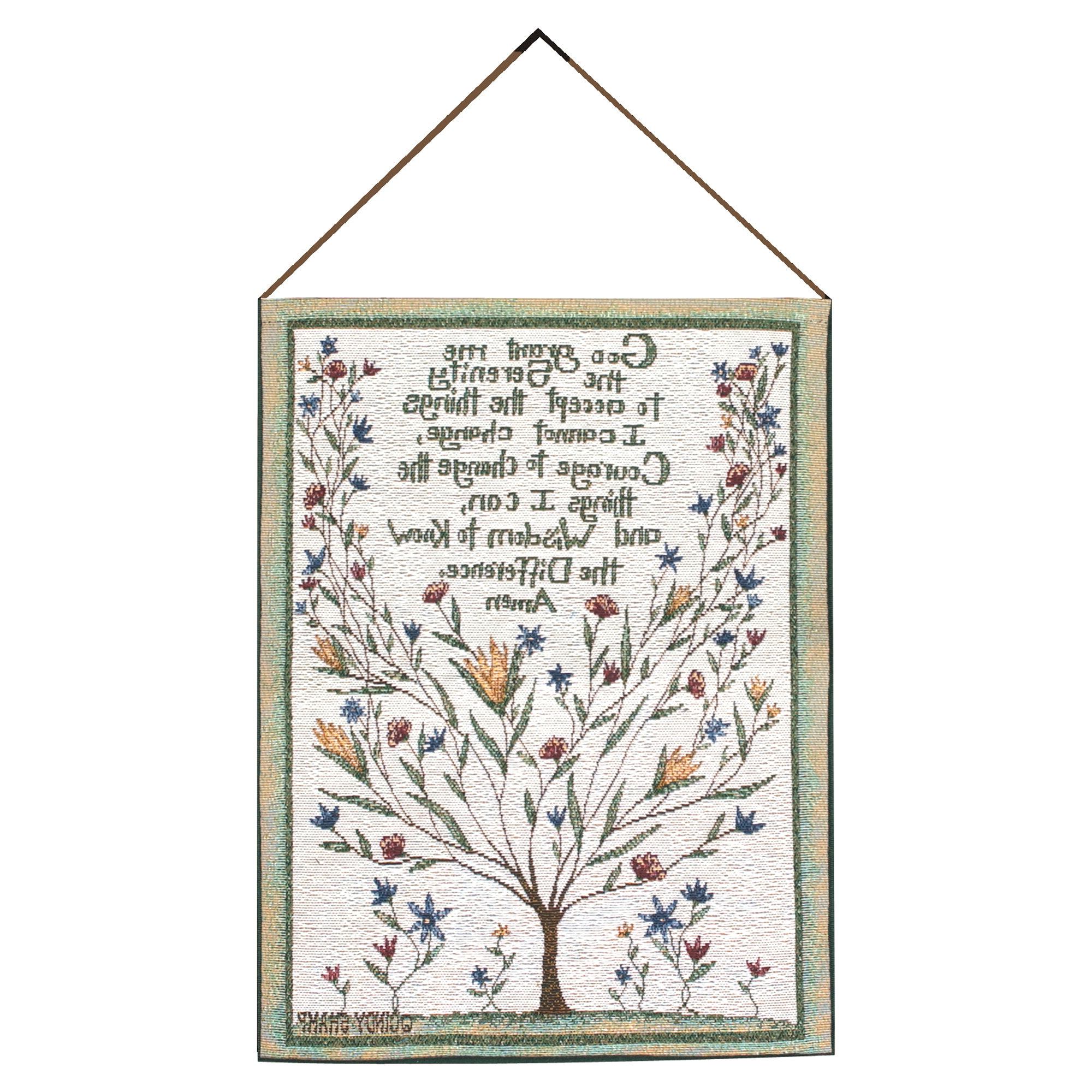 Trendy Serenity Prayer Tapestry And Wall Hanging Inside Blended Fabric Trust In The Lord Tapestries And Wall Hangings (View 16 of 20)