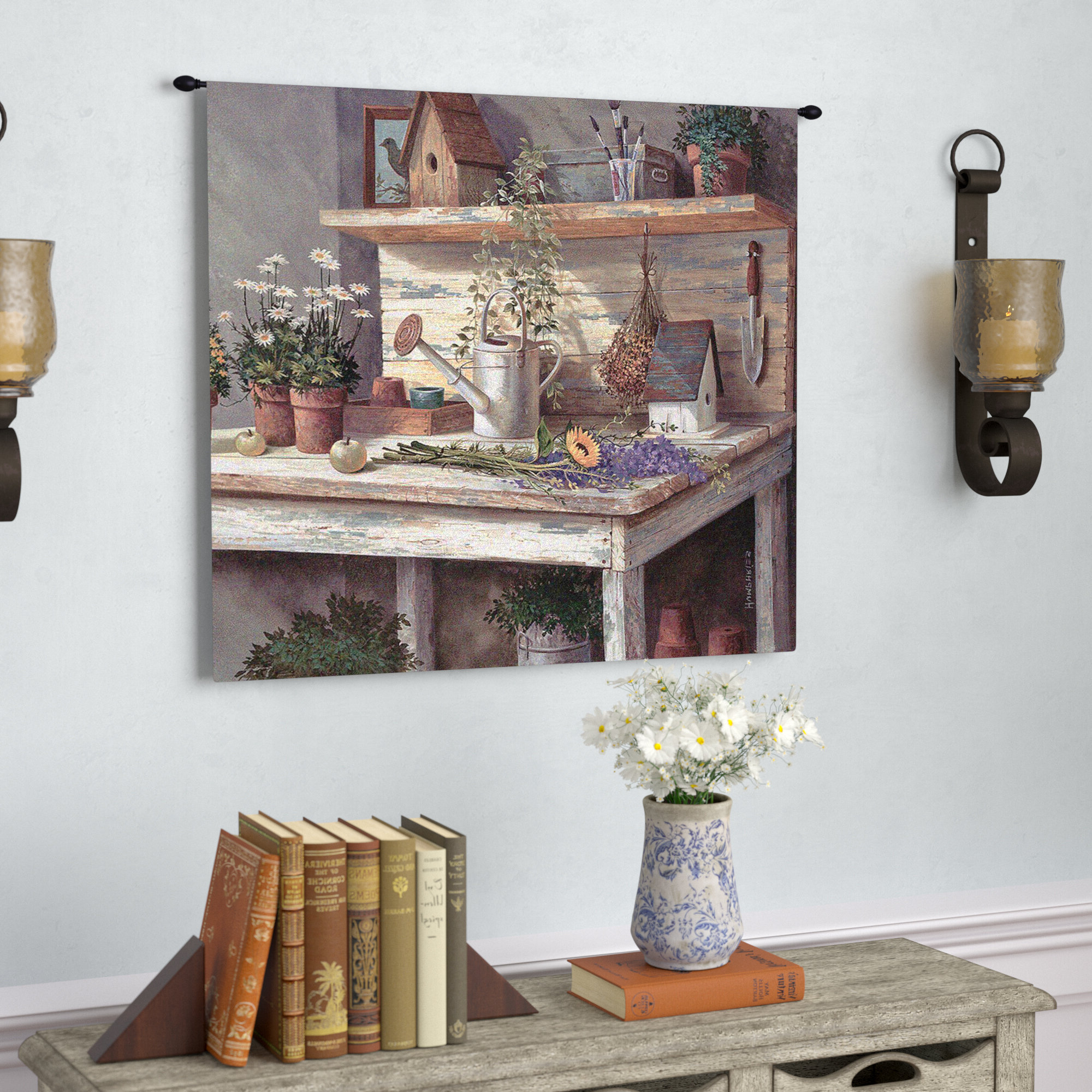 Trendy Simple Pleasures Tapestry Regarding Blended Fabric Havenwood Chinoiserie Tapestries Rod Included (View 19 of 20)