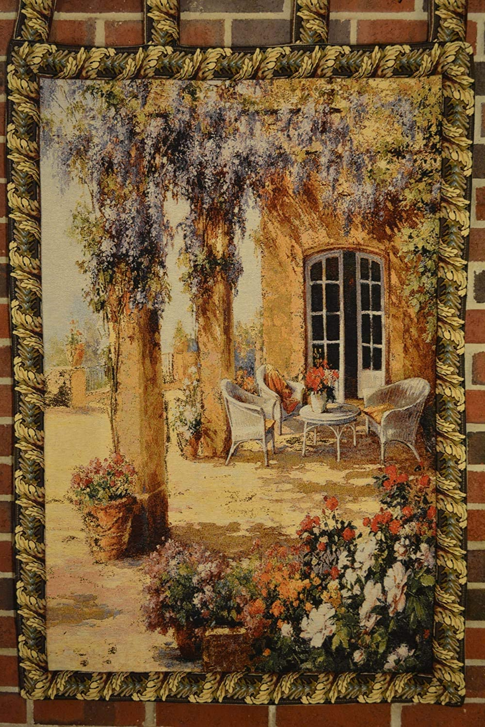 Trendy Tache 28 X 47 Inch Festive Picturesque Country Rustic Woven Spring Party Tapestry Wall Hanging Art Home Decor With Hanging Loops With Blended Fabric Faraway Longing Wall Hangings (View 8 of 20)