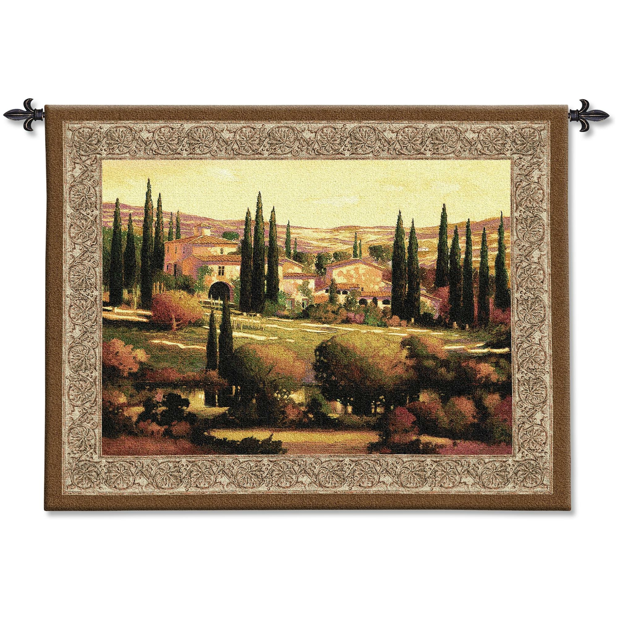 Trendy Tuscan Tapestry Within Blended Fabric Gallanteries European Wall Hangings (View 6 of 20)