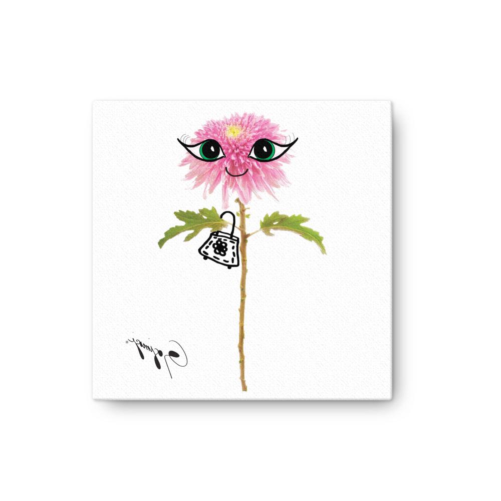Trendy Whimsical Flower Wall Décor Pertaining To Pink Dahlia Flower Wall Artgogimogi – Whimsical Flower Print – Art For Kids – Flower Digital Wall Print (View 7 of 20)
