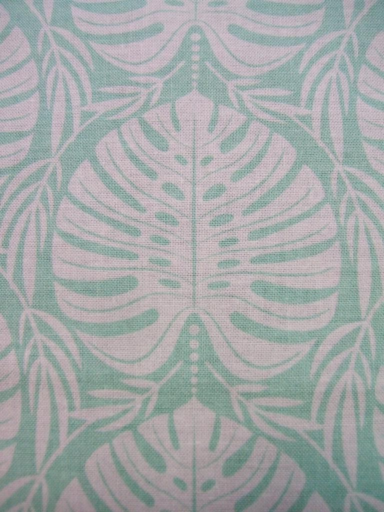 Tropical Paradise Philodendron Leaf Leaves Leafy Mint Blend With Well Known Blended Fabric Artifice Ii Wall Hangings (View 5 of 20)