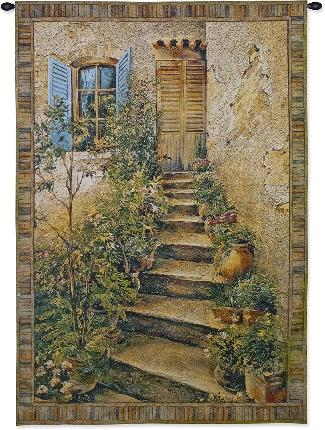 [%tuscan Villa Iiroger Duvall | Woven Tapestry Wall Art Hanging | Rustic Italian Village Steps | 100% Cotton Usa Size 34x26 For Current Blended Fabric Faraway Longing Wall Hangings|blended Fabric Faraway Longing Wall Hangings With Regard To Favorite Tuscan Villa Iiroger Duvall | Woven Tapestry Wall Art Hanging | Rustic Italian Village Steps | 100% Cotton Usa Size 34x26|trendy Blended Fabric Faraway Longing Wall Hangings Intended For Tuscan Villa Iiroger Duvall | Woven Tapestry Wall Art Hanging | Rustic Italian Village Steps | 100% Cotton Usa Size 34x26|2020 Tuscan Villa Iiroger Duvall | Woven Tapestry Wall Art Hanging | Rustic Italian Village Steps | 100% Cotton Usa Size 34x26 Regarding Blended Fabric Faraway Longing Wall Hangings%] (View 3 of 20)