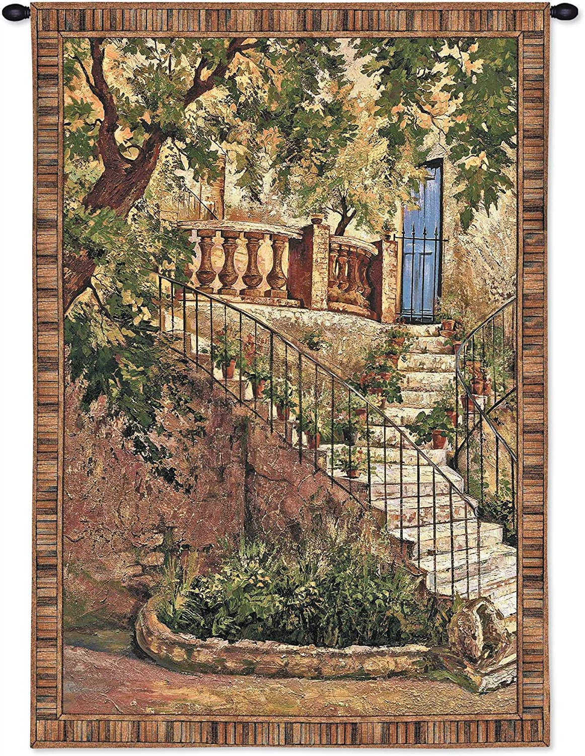[%tuscan Villa Iroger Duvall | Woven Tapestry Wall Art Hanging | Rustic Italian Steps With Foliage | 100% Cotton Usa Size 53x40 Throughout Famous Blended Fabric Bellagio Scalinata Wall Hangings|blended Fabric Bellagio Scalinata Wall Hangings For Newest Tuscan Villa Iroger Duvall | Woven Tapestry Wall Art Hanging | Rustic Italian Steps With Foliage | 100% Cotton Usa Size 53x40|latest Blended Fabric Bellagio Scalinata Wall Hangings Within Tuscan Villa Iroger Duvall | Woven Tapestry Wall Art Hanging | Rustic Italian Steps With Foliage | 100% Cotton Usa Size 53x40|popular Tuscan Villa Iroger Duvall | Woven Tapestry Wall Art Hanging | Rustic Italian Steps With Foliage | 100% Cotton Usa Size 53x40 Inside Blended Fabric Bellagio Scalinata Wall Hangings%] (View 8 of 20)