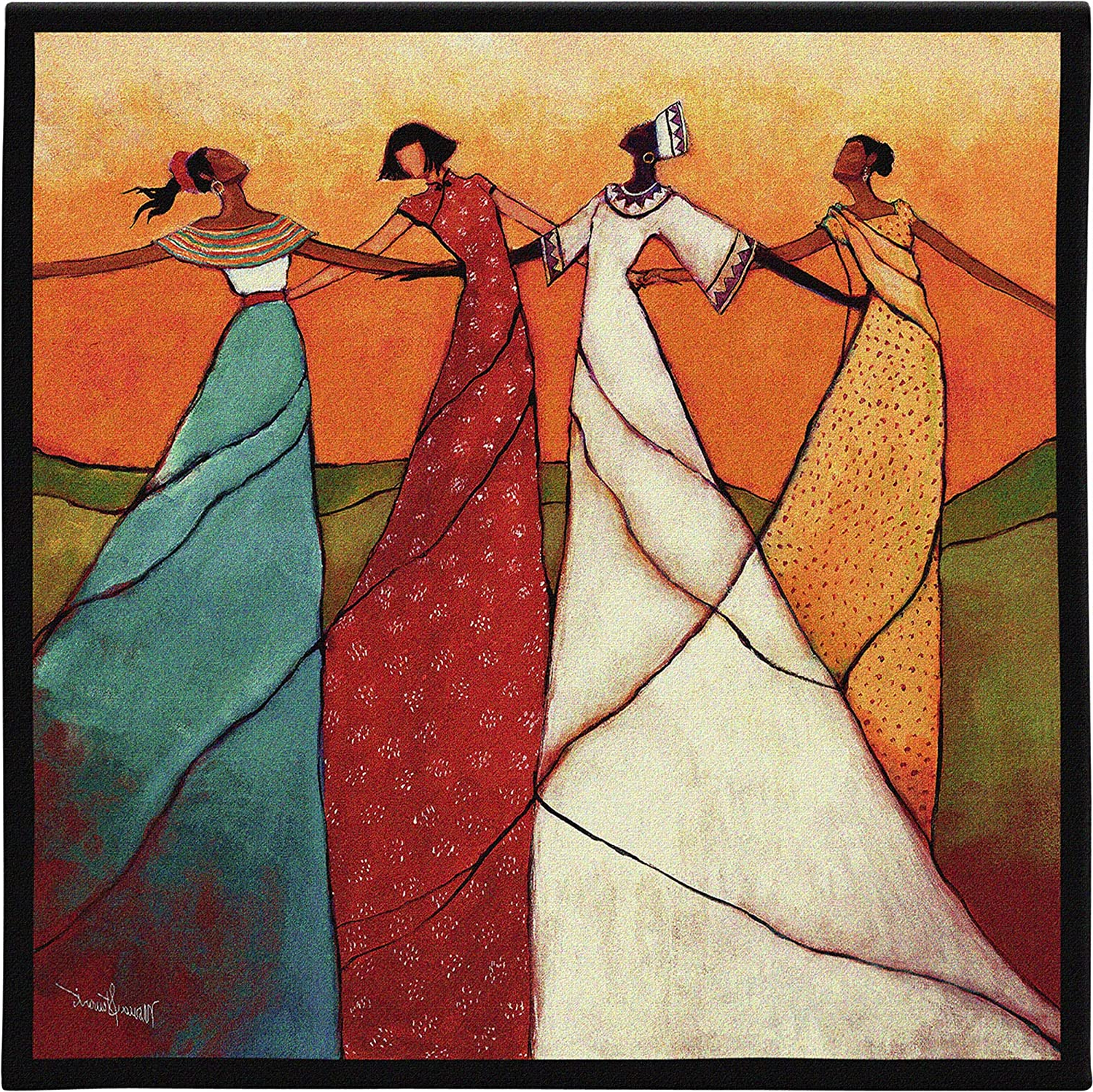 [%unitymonica Stewart | Woven Tapestry Wall Art Hanging | African Women Dancing | 100% Cotton Usa Size 31x31 Regarding Well Known Blended Fabric Vendanges (red) Wall Hangings|blended Fabric Vendanges (red) Wall Hangings For Latest Unitymonica Stewart | Woven Tapestry Wall Art Hanging | African Women Dancing | 100% Cotton Usa Size 31x31|latest Blended Fabric Vendanges (red) Wall Hangings Inside Unitymonica Stewart | Woven Tapestry Wall Art Hanging | African Women Dancing | 100% Cotton Usa Size 31x31|best And Newest Unitymonica Stewart | Woven Tapestry Wall Art Hanging | African Women Dancing | 100% Cotton Usa Size 31x31 Throughout Blended Fabric Vendanges (red) Wall Hangings%] (View 18 of 20)