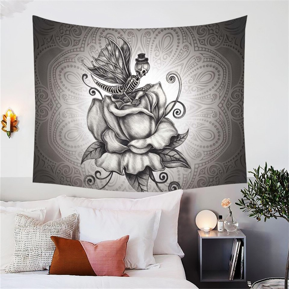 [%us $9.58 33% Off|blessliving 3d Retro Roses Decorative Tapestry Pale Grey Butterfly Skull Tapestries Gothic Wall Hanging Romantic Dark For Newest Roses I Tapestries|roses I Tapestries Pertaining To Widely Used Us $9.58 33% Off|blessliving 3d Retro Roses Decorative Tapestry Pale Grey Butterfly Skull Tapestries Gothic Wall Hanging Romantic Dark|fashionable Roses I Tapestries Throughout Us $9.58 33% Off|blessliving 3d Retro Roses Decorative Tapestry Pale Grey Butterfly Skull Tapestries Gothic Wall Hanging Romantic Dark|2020 Us $ (View 11 of 20)