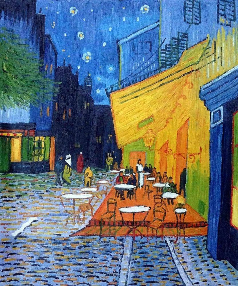 Van Gogh Paintings With Famous Blended Fabric Van Gogh Terrace Wall Hangings (View 7 of 20)