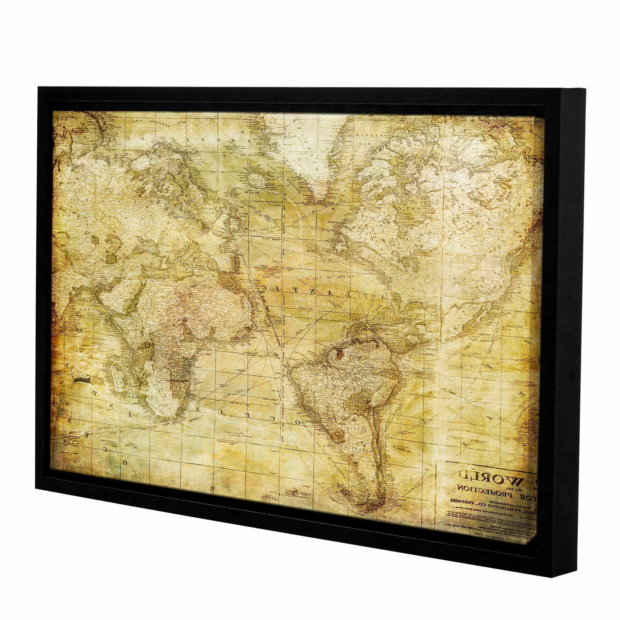 Featured Photo of Wall Mounted World Map Sculpture By Alcott Hill
