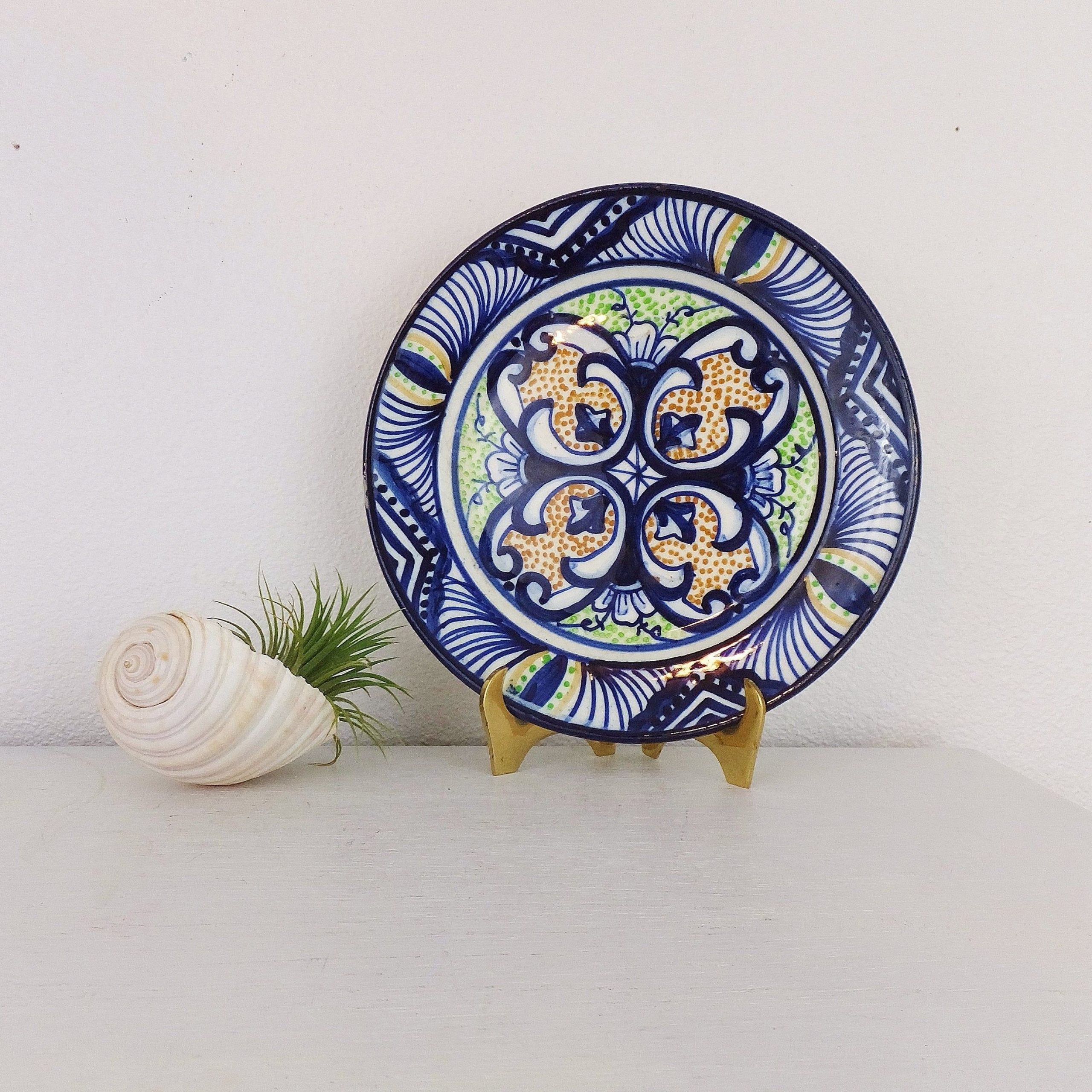 Vintage Spanish Plate P Zorrilla Wall Hanging Display Plate In Newest Blended Fabric Salty But Sweet Wall Hangings (View 4 of 20)
