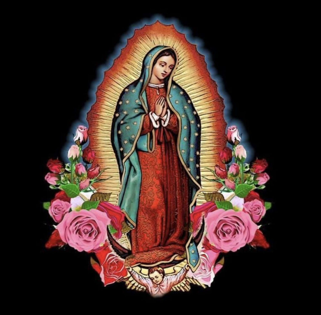 Virgin Mary Art Intended For Favorite Blended Fabric Our Lady Of Guadalupe Wall Hangings (View 13 of 20)