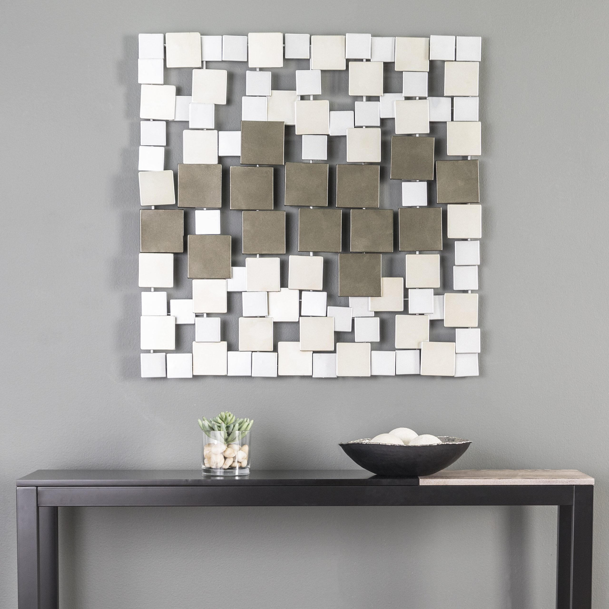 Wall Décor By Brayden Studio Pertaining To Newest Square Metal Wall Décor (View 9 of 20)