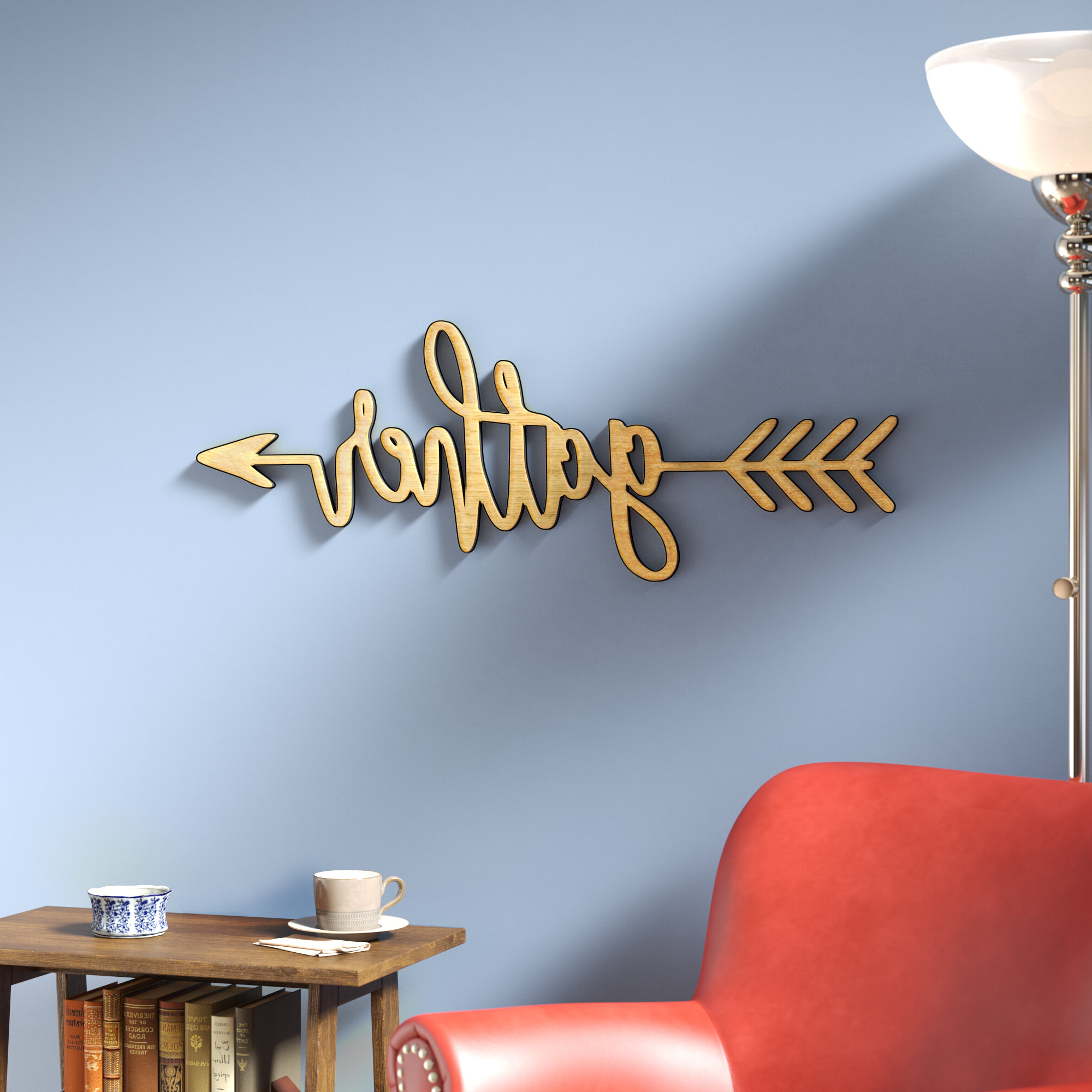 Wall Decor Intended For Best And Newest Gather Script Wall Décor By Winston Porter (View 10 of 20)