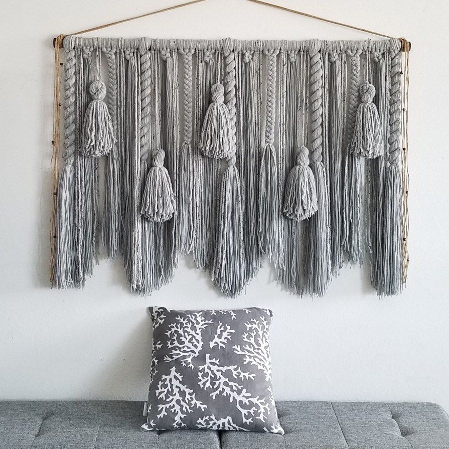 Wall Hanging, Yarn Intended For Blended Fabric Breeze Of Admiration Woven Tapestries (View 18 of 20)