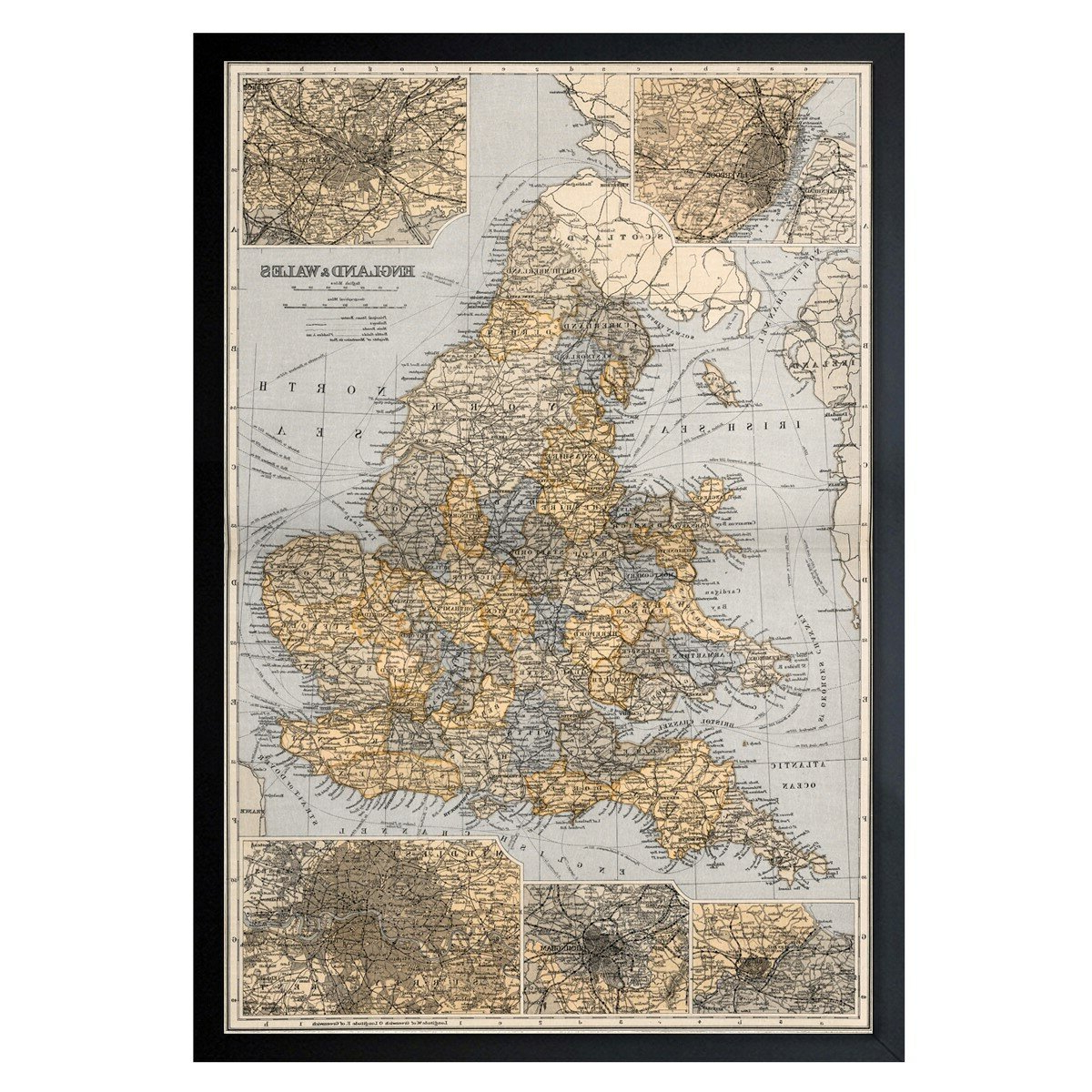 Wall Mounted World Map Sculpture By Alcott Hill For Popular 'england And Wales 1892' Framed Graphic Art (View 16 of 20)