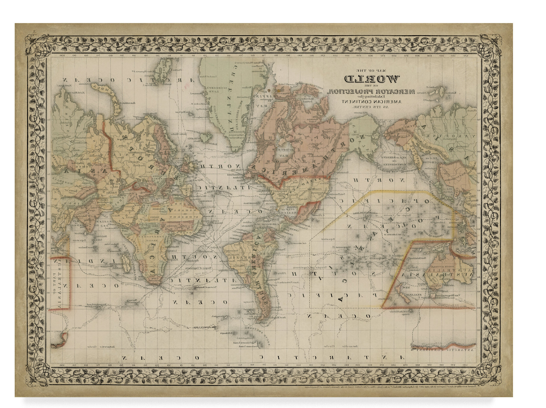 Wall Mounted World Map Sculpture By Alcott Hill In Popular 'world Map' Drawing Print On Wrapped Canvas (View 7 of 20)