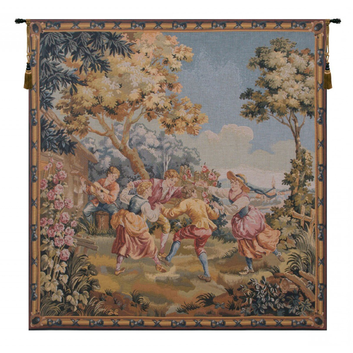 Wayfair With Blended Fabric European Five English Horses Tapestries (View 2 of 20)