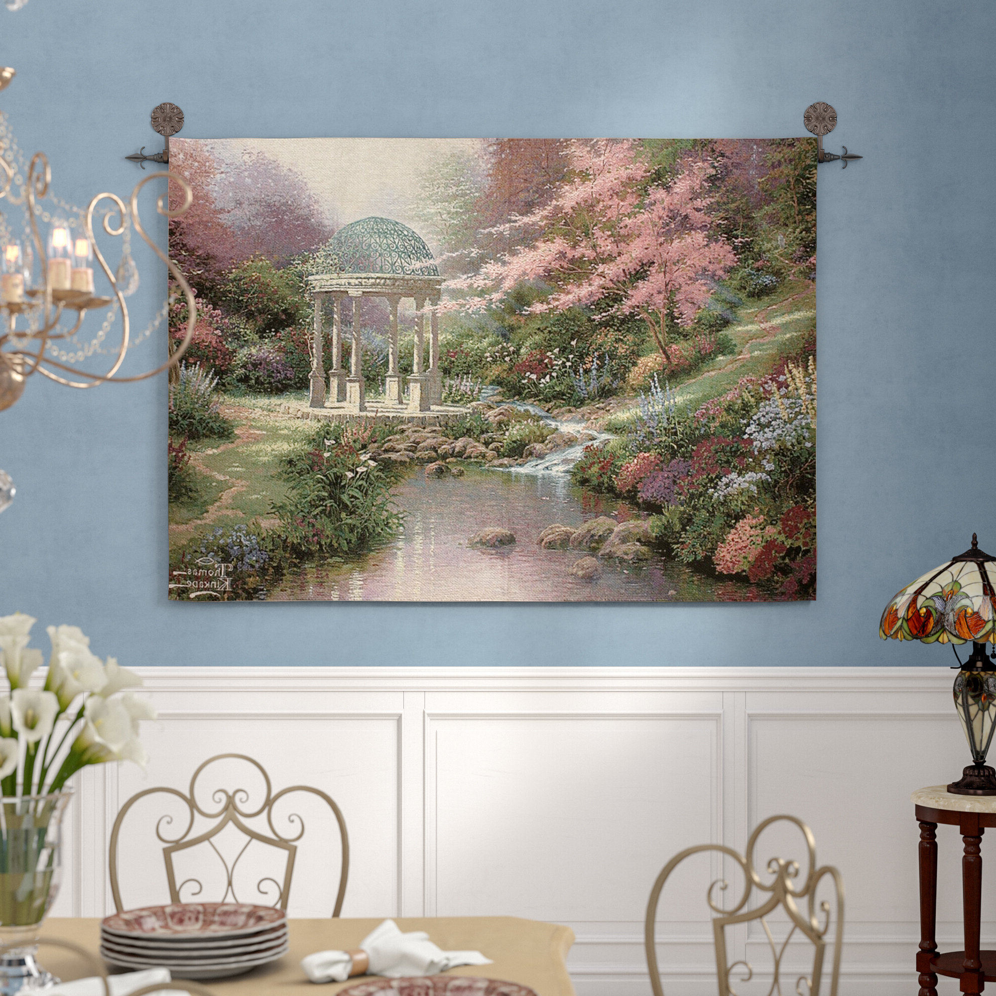 Wayfair With Blended Fabric Havenwood Chinoiserie Tapestries Rod Included (View 6 of 20)