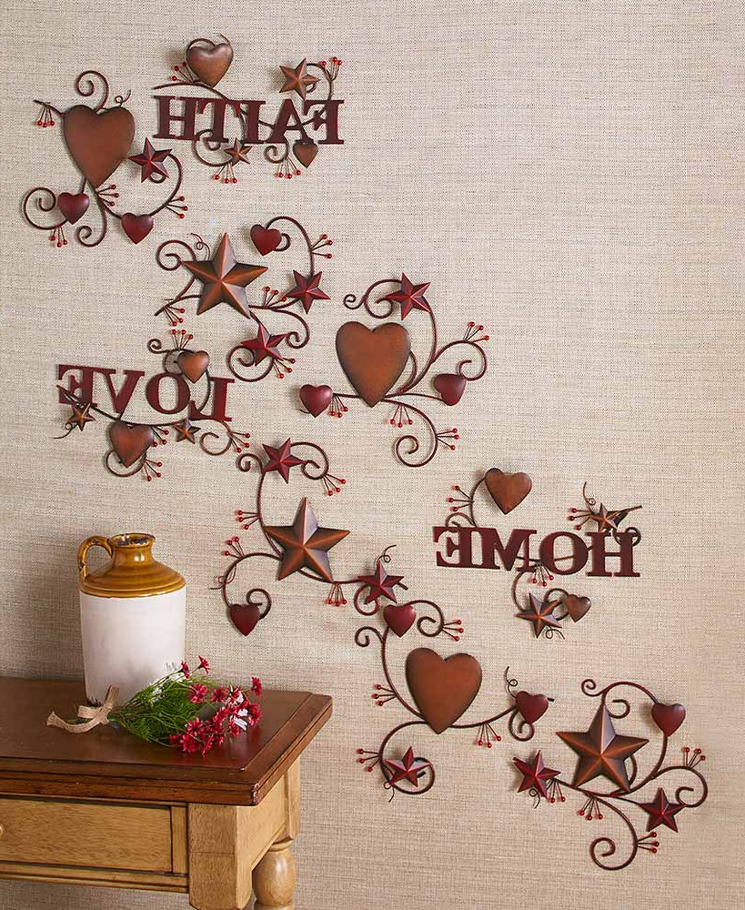 Well Known Barn Star Wall Décor (set Of 2) In 3 Pc (View 20 of 20)