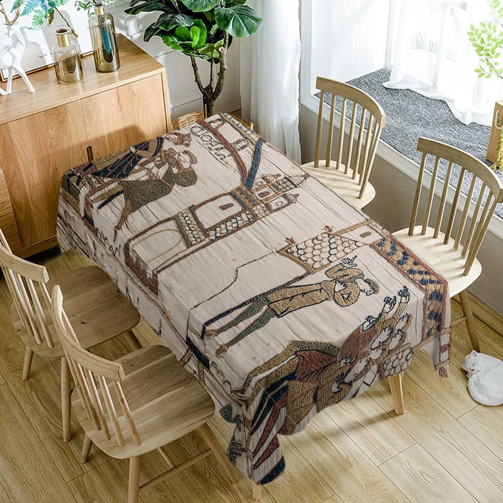 Well Known Bayeux Tablecloth Modern Decor Bayeux Tapestry Comet Polyester Fabric Table Cloths Dining Room Kitchen Rectangular Table Cover 60w X 84l Inches Blight With Regard To Blended Fabric Bayeux William Troops Wall Hangings (View 2 of 20)