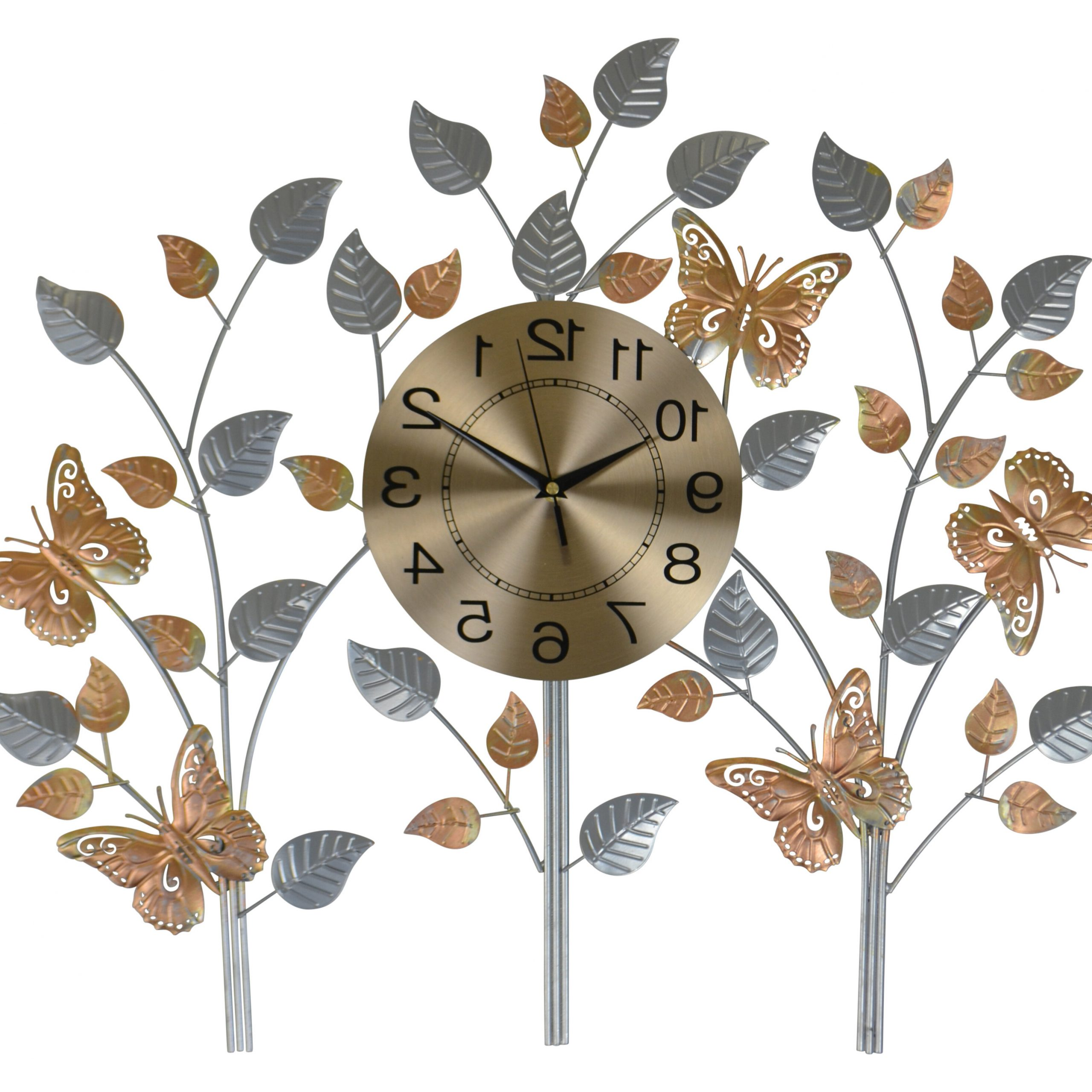 "Well Known Believe Metal Wall Décor By Red Barrel Studio With Oversized Liela Metal Butterfly 27"" Wall Clock (View 7 of 20)"