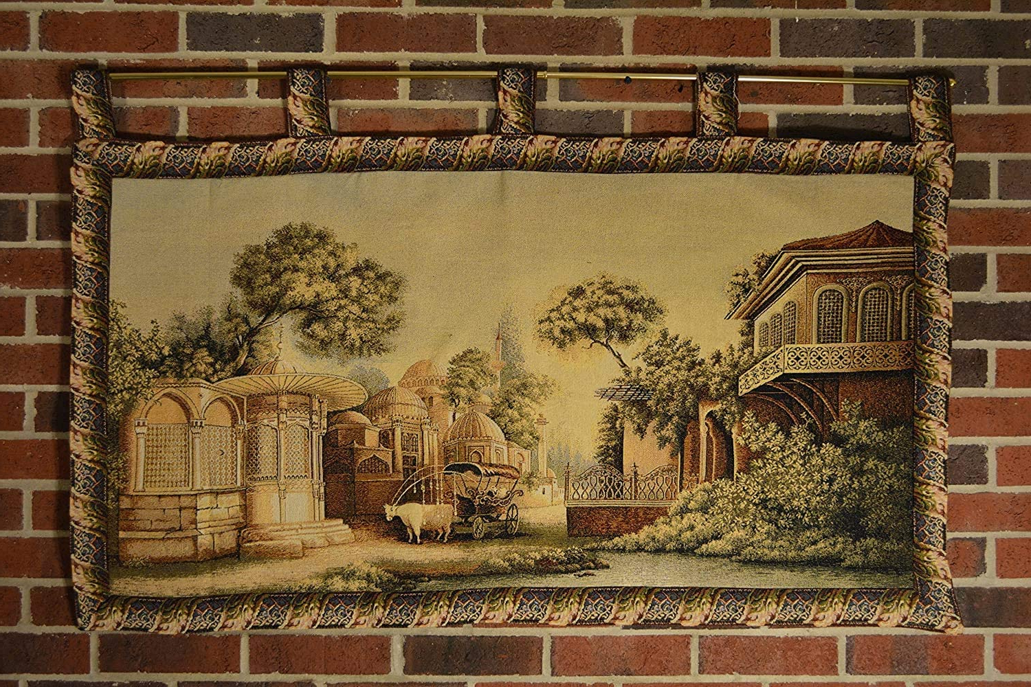 Well Known Blended Fabric Faraway Longing Wall Hangings Within Tache 27x49 Inches Exotic Persian Nice Day Out Large Tapestry Jacquard Wall Hanging Art Decor (View 7 of 20)
