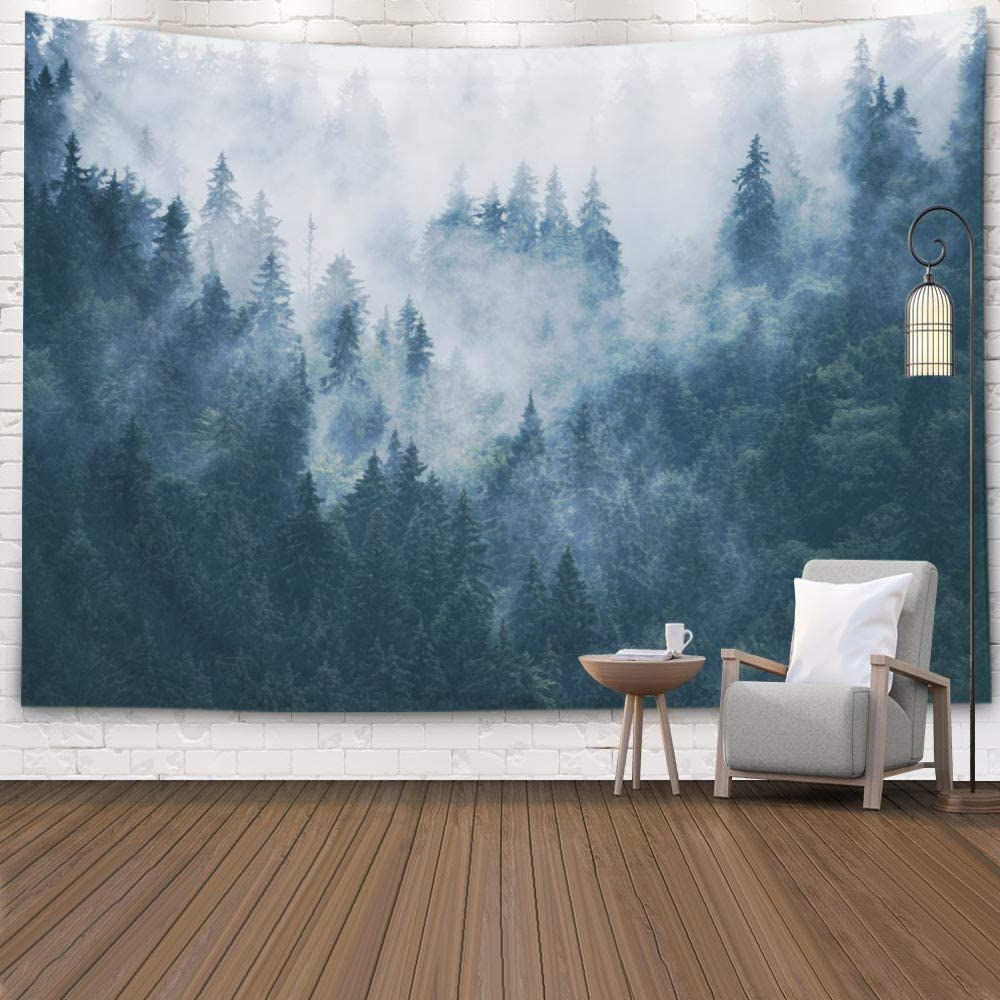 Well Known Blended Fabric Living Life Tapestries Throughout Forest Wall Hanging Tapestry,mens Tapestry For Bedroom, Room (View 7 of 20)