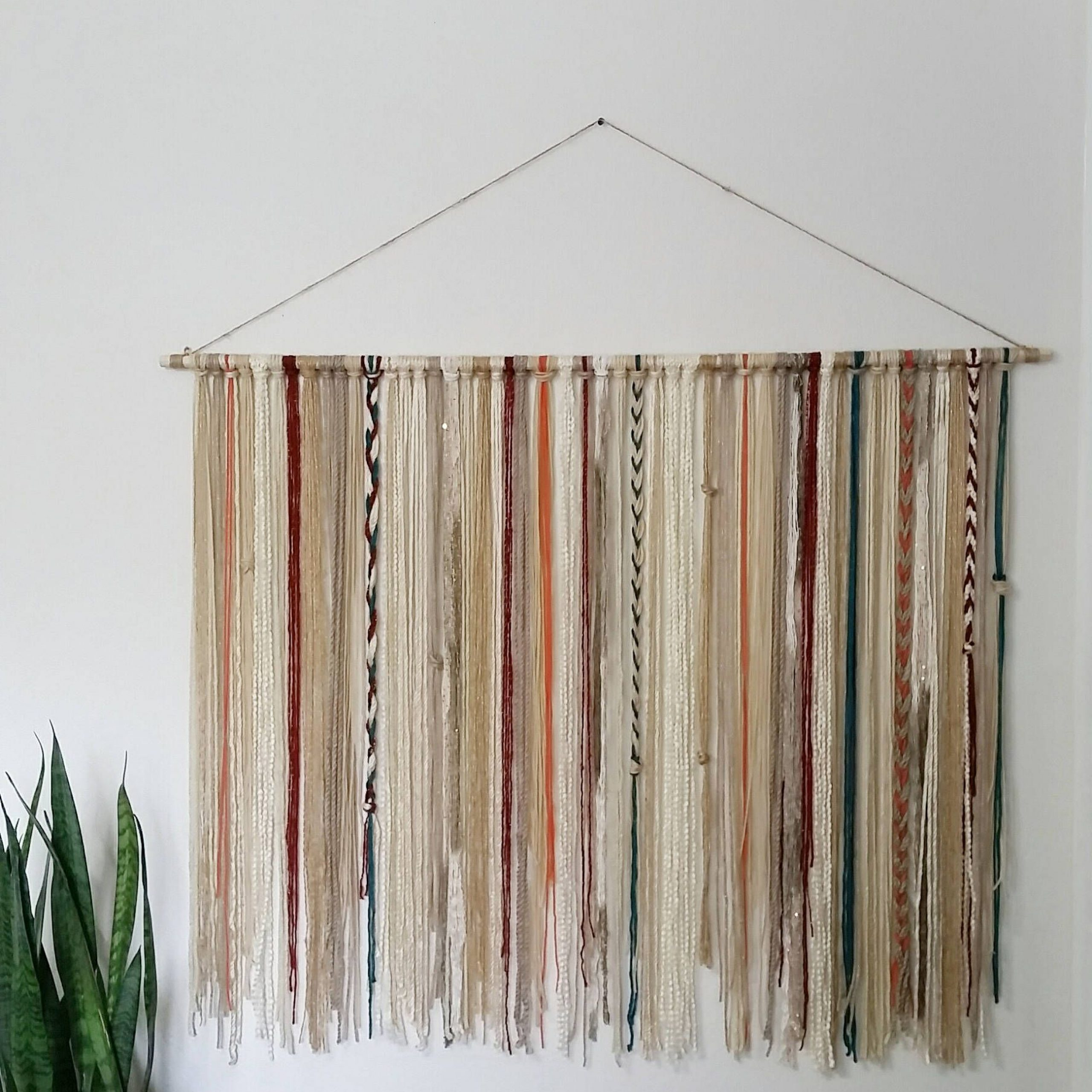 Well Known Blended Fabric Southwestern Bohemian Wall Hangings In Bohemian Yarn Tapestry Yarn Wall Hanging Southwestern Wall (View 3 of 20)