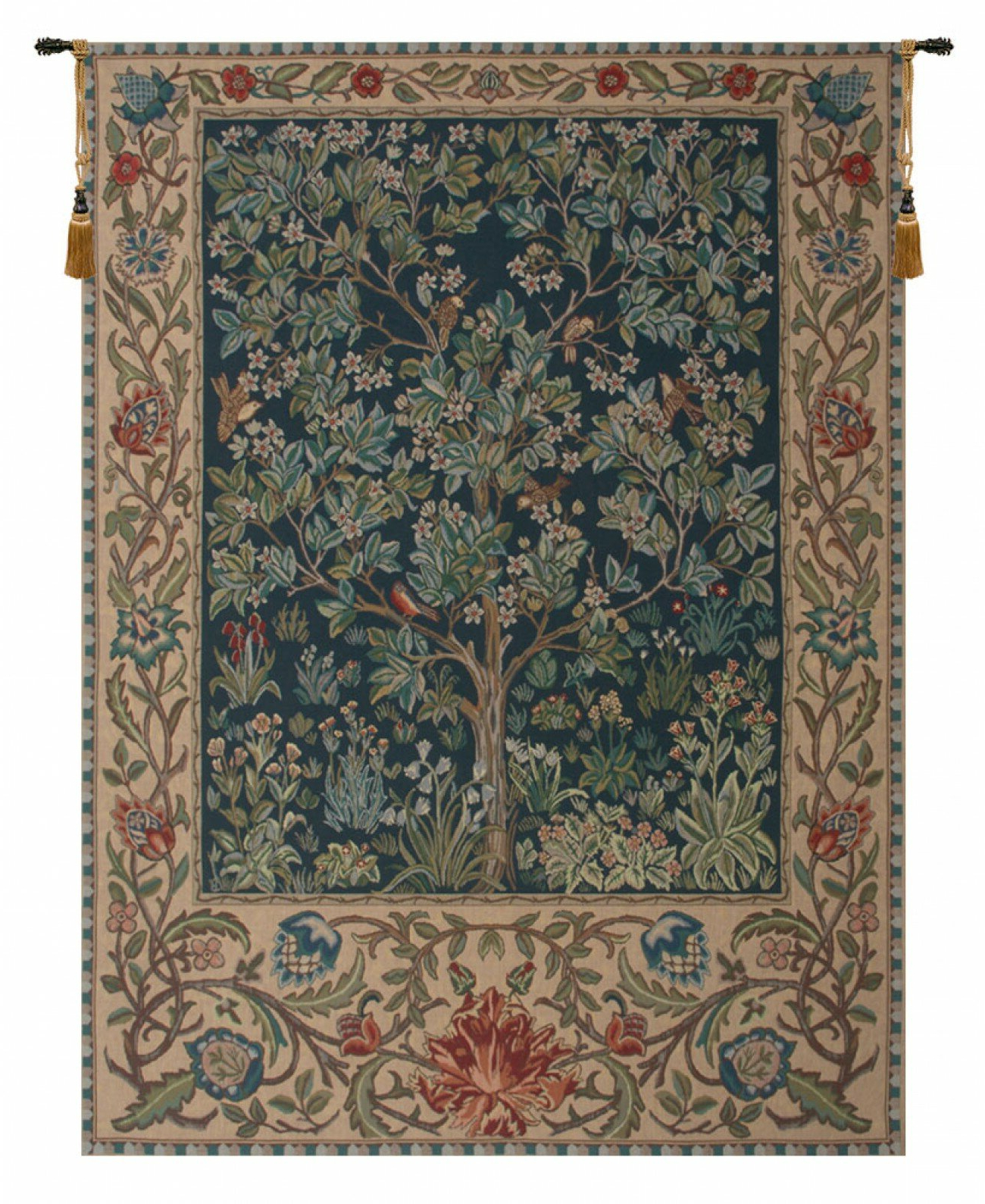 Well Known Blended Fabric Tree Of Life, William Morris Wall Hangings For Tree Of Life, William Morris Wall Hanging (View 4 of 20)
