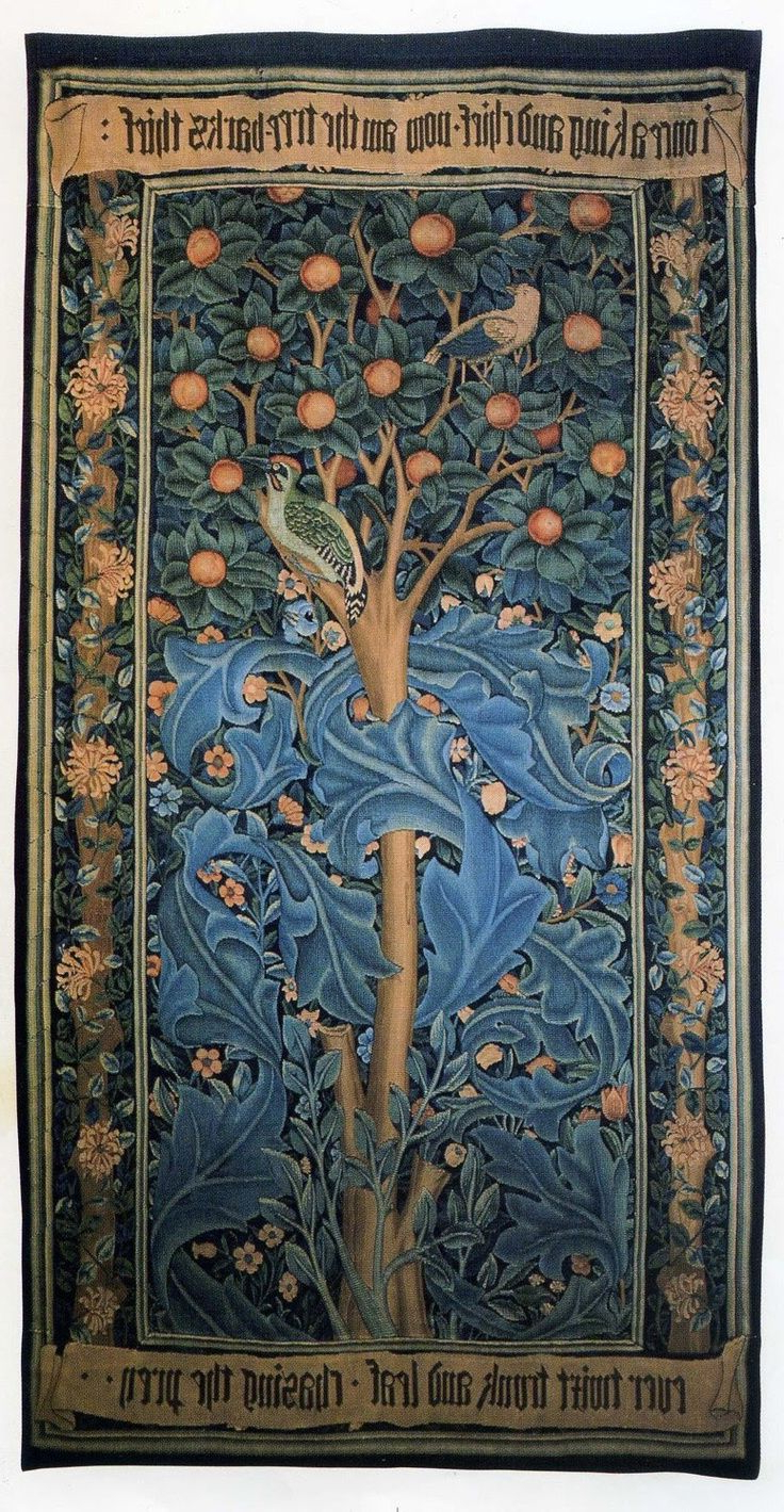 Well Known Blended Fabric Woodpecker European Tapestries In William Morris Woodpecker Tapestry (View 7 of 20)