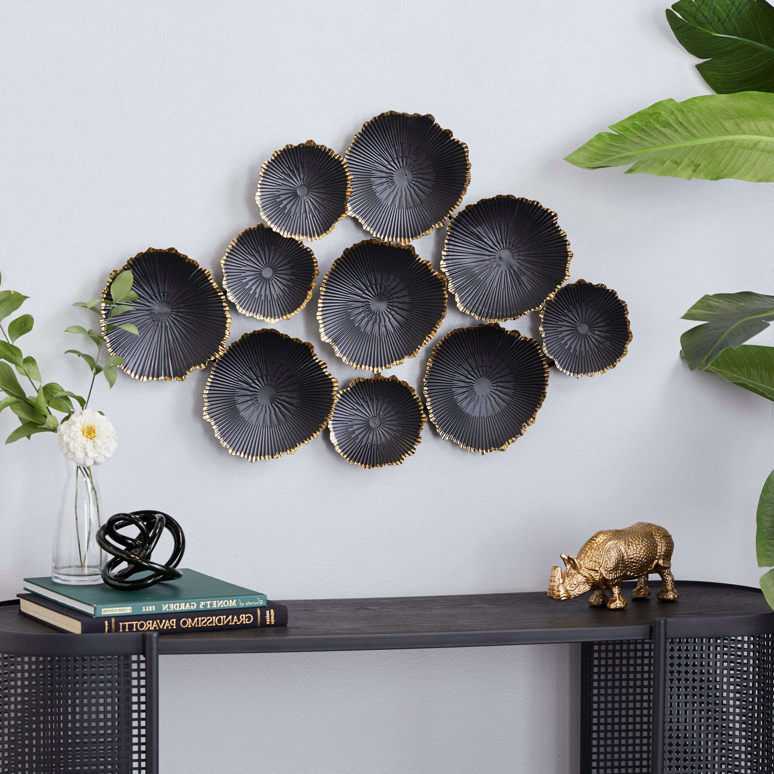 Well Known Cosmolivingcosmopolitan Black Metal Contemporary Wall Decor 23 X 26 X 2 – 26 X 2 X 23 Throughout Metal Wall Décor By Cosmoliving (View 7 of 20)