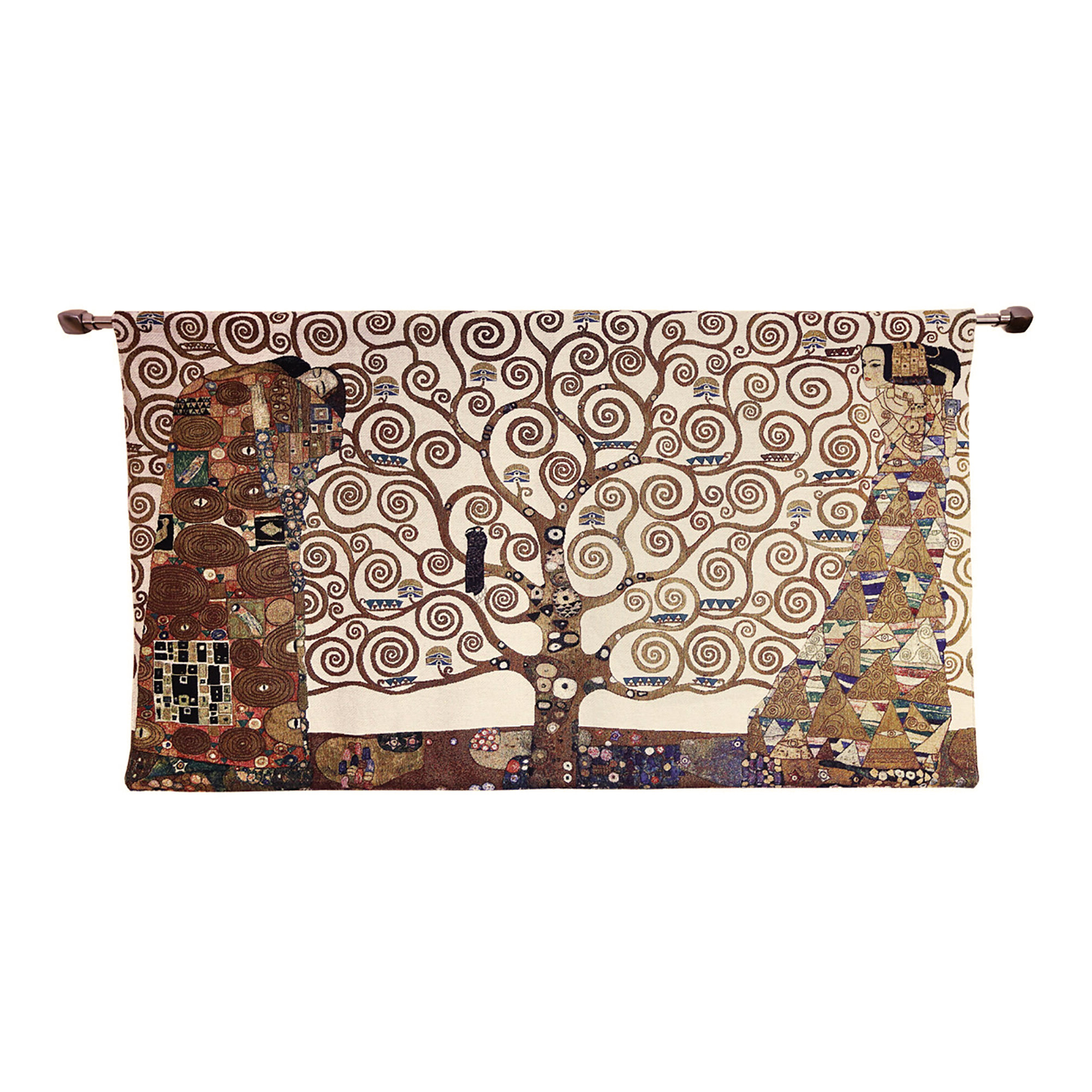 Well Known Cotton Klimt Tree Of Life Whole Wall Hanging With Regard To Blended Fabric Klimt Tree Of Life Wall Hangings (View 6 of 20)