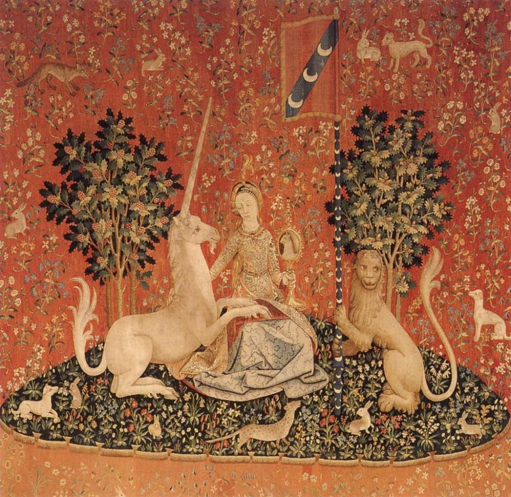 Well Known Dame A La Licorne I Tapestries With La Dame À La Licorne, La Vue, 1484 – 1500, Paris (cartons (View 14 of 20)