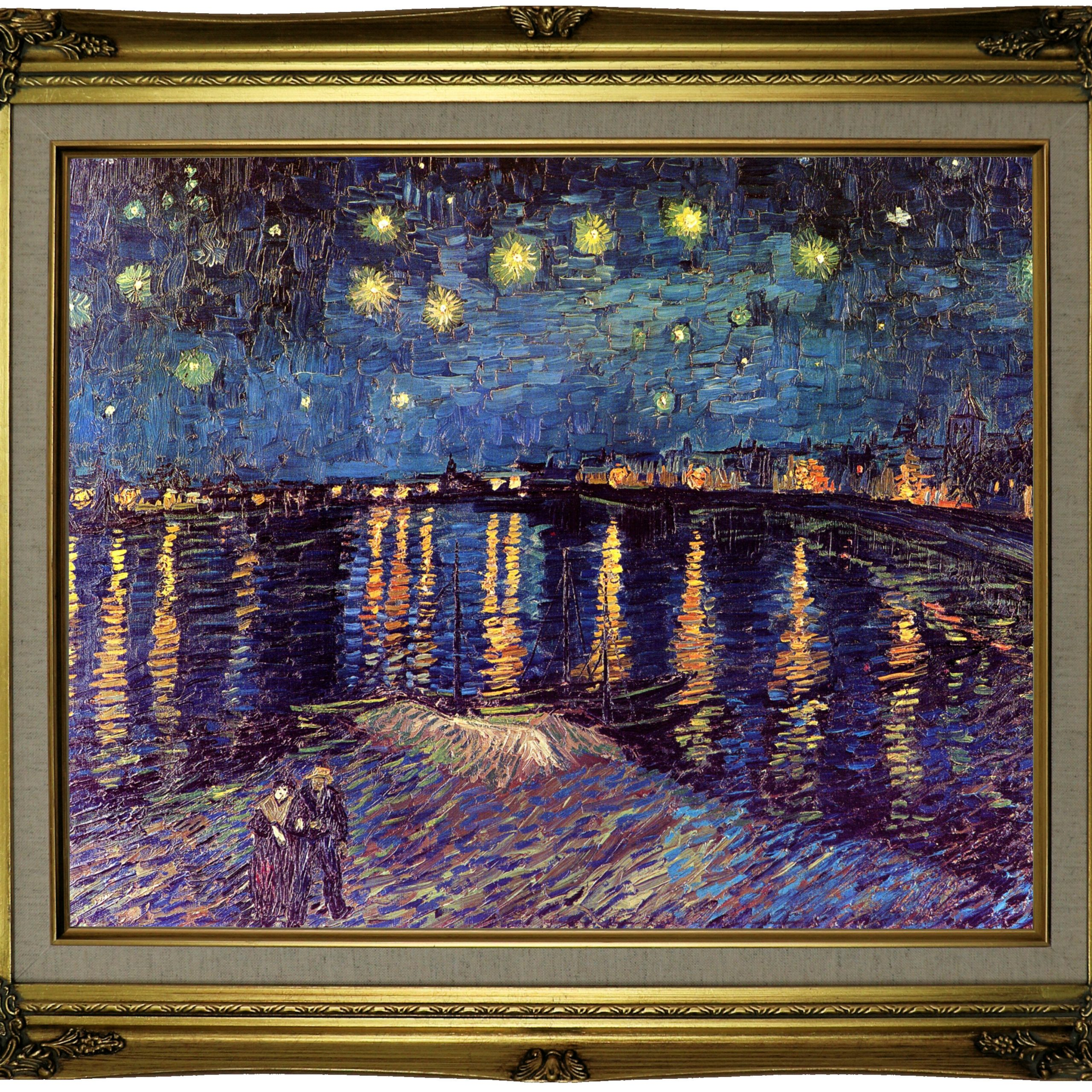 Well Known Home & Garden Van Gogh The Starry Night Canvas Print Home Intended For Blended Fabric Van Gogh Starry Night Over The Rhone Wall Hangings (View 13 of 20)