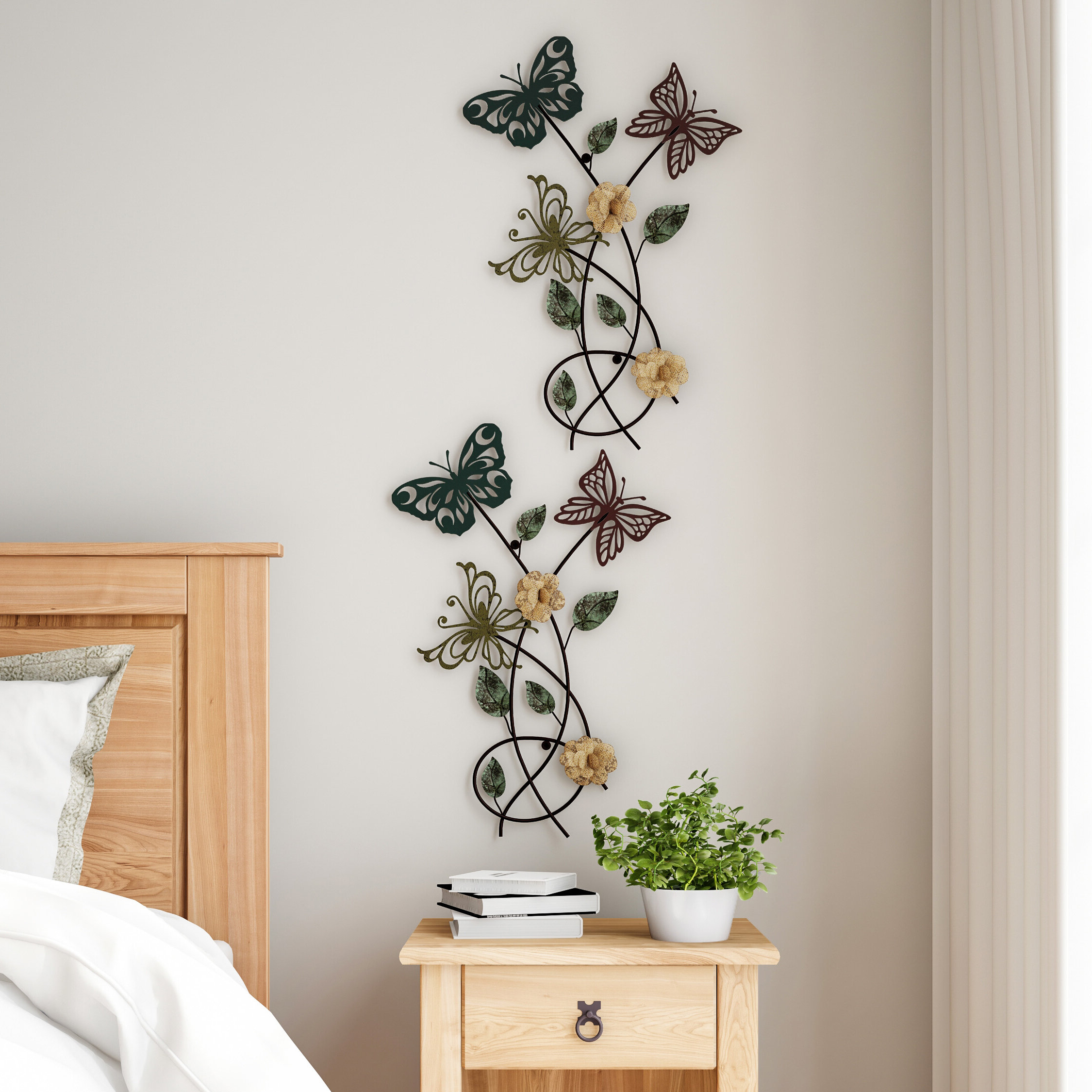 Well Known Metal Wall Décor By Charlton Home For Garden Butterfly Metal Wall Decor (View 10 of 20)