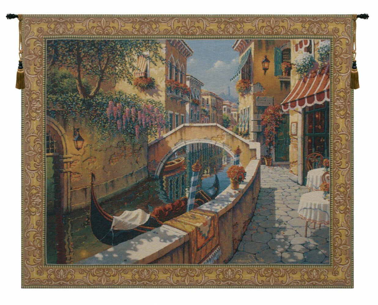 Well Known Passage To San Marcorobert Pejman Tapestry With Regard To Blended Fabric Morning Reflections By Robert Pejman Flanders Tapestries (View 2 of 10)