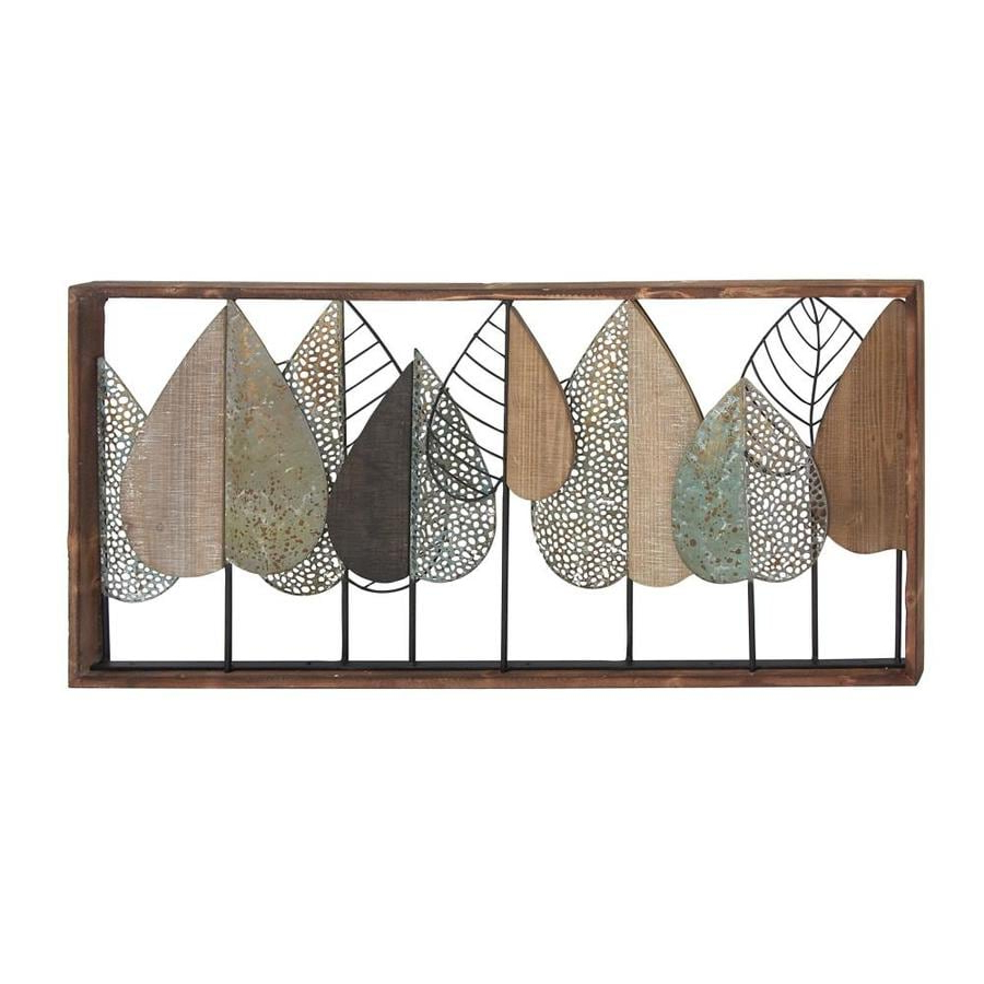 Well Known Rectangular Metal Wall Décor Pertaining To Grayson Lane Modern Style Large Rectangular Metal Wall Decor (View 15 of 20)