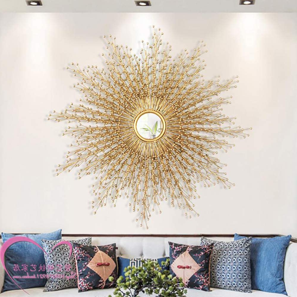 Well Known Starburst Wall Décor By Wrought Studio Intended For Luxury Metal Wall Mirror Big Sunburst Wall Decor Craft (View 12 of 20)