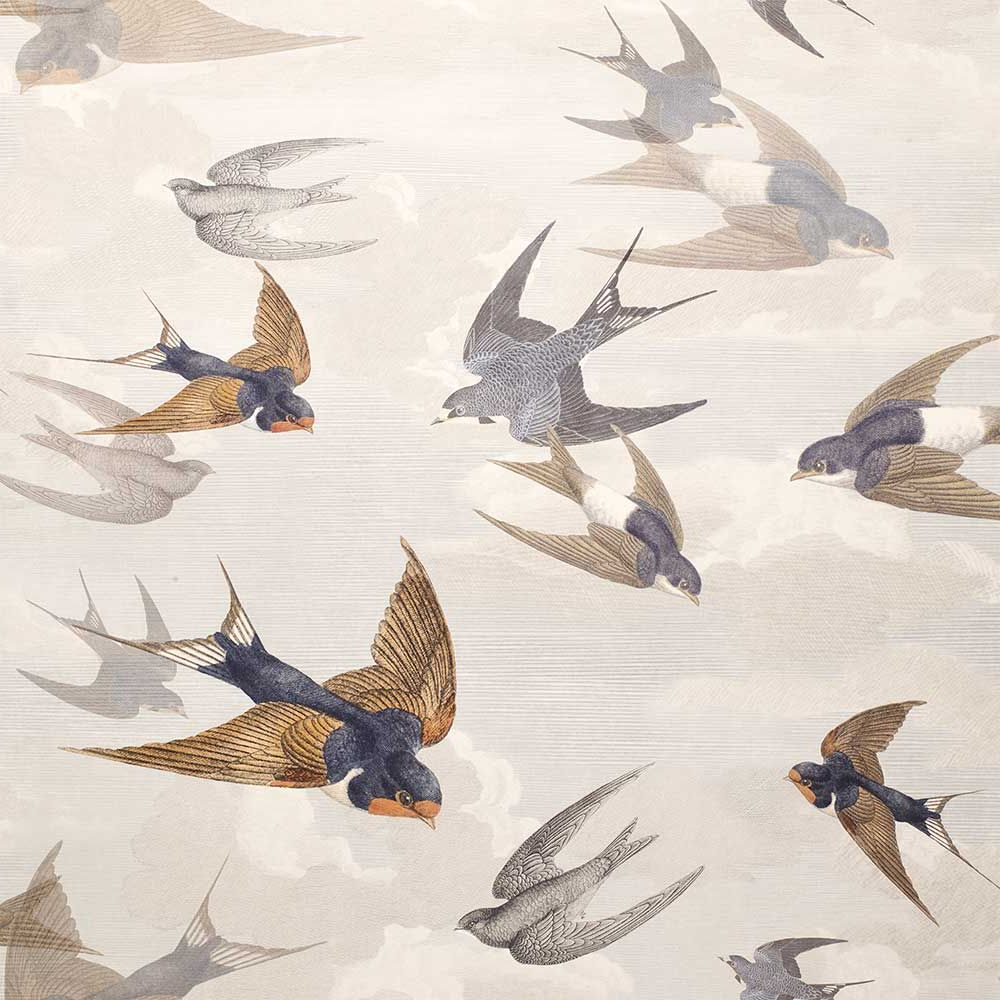 Well Known Swallows Wall Decor (set Of 6) By Highland Dunes With Regard To Chimney Swallowsdesigners Guild – Dawn – Wallpaper (View 17 of 20)
