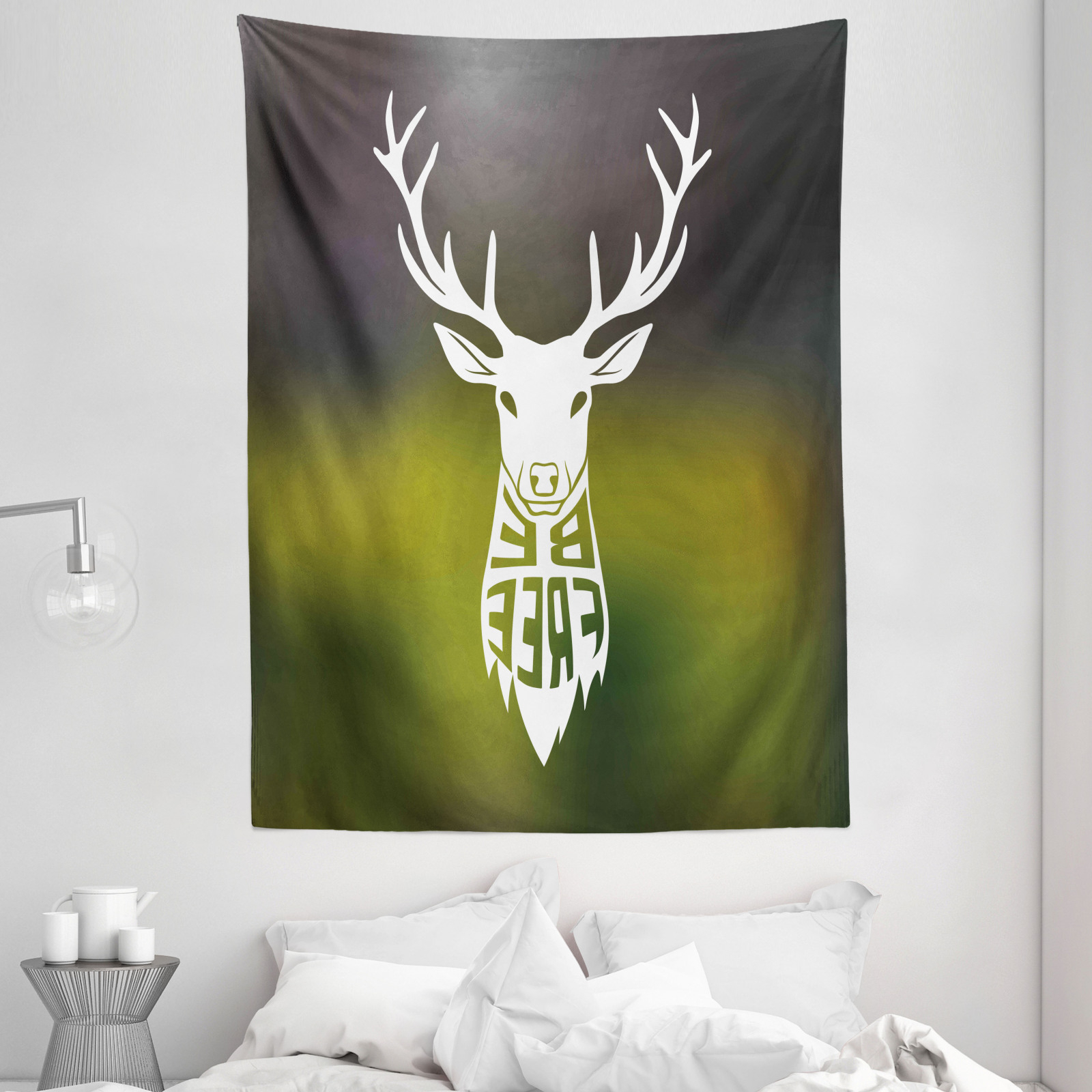 Well Known The Frankfurt Deer Head Wall Décor Throughout Hunting Tapestry Deer Head Art (View 14 of 20)
