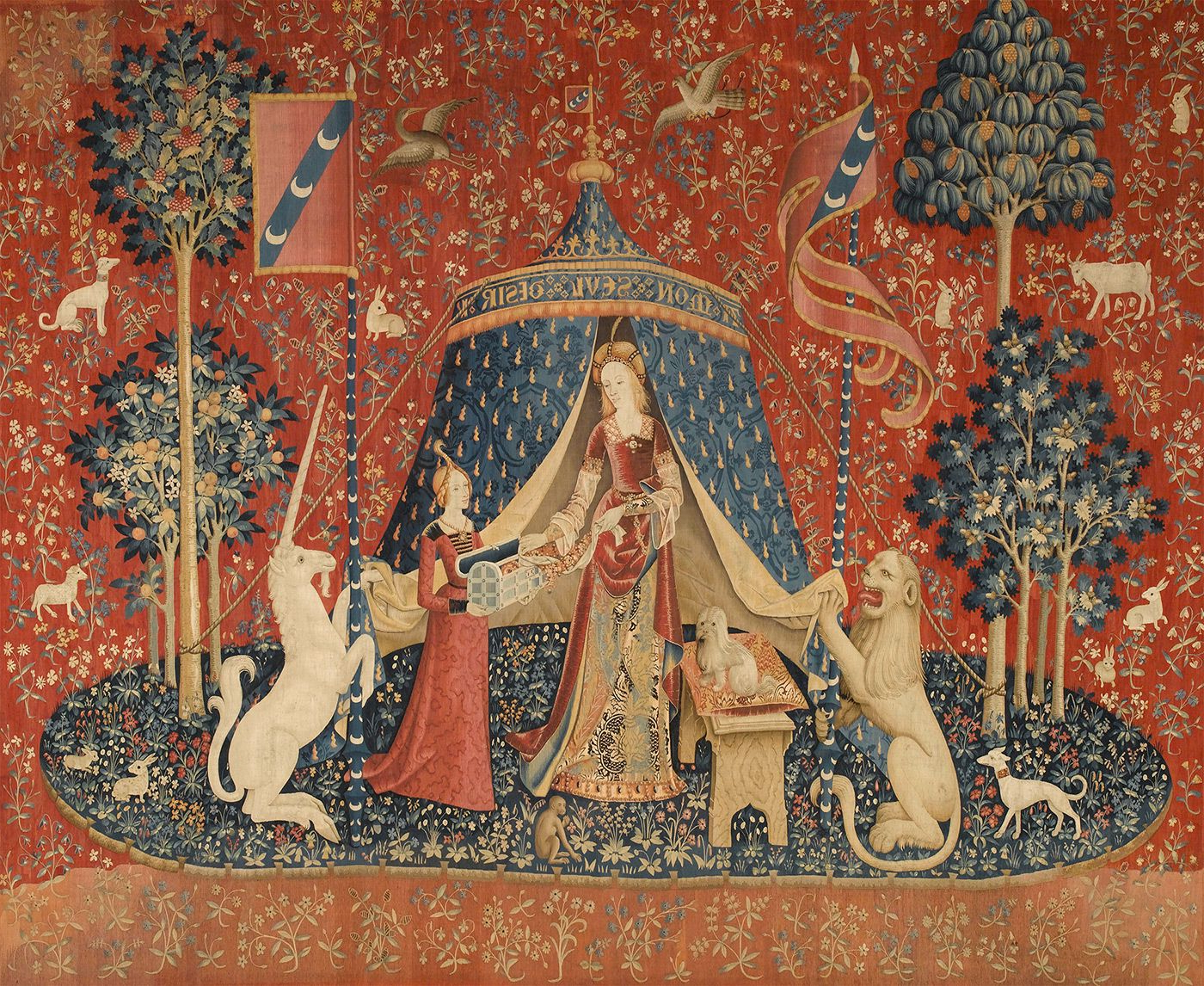 Well Known The Lady And The Unicorn – Wikipedia With Regard To Grandes Armoiries I European Tapestries (View 20 of 20)