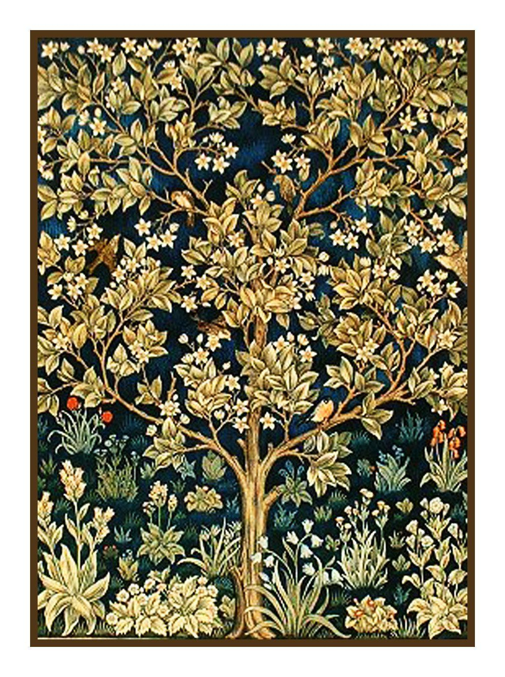 Well Known Tree Of Life Detail William Morris Counted Cross Stitch Or With Regard To Blended Fabric Tree Of Life, William Morris Wall Hangings (View 15 of 20)