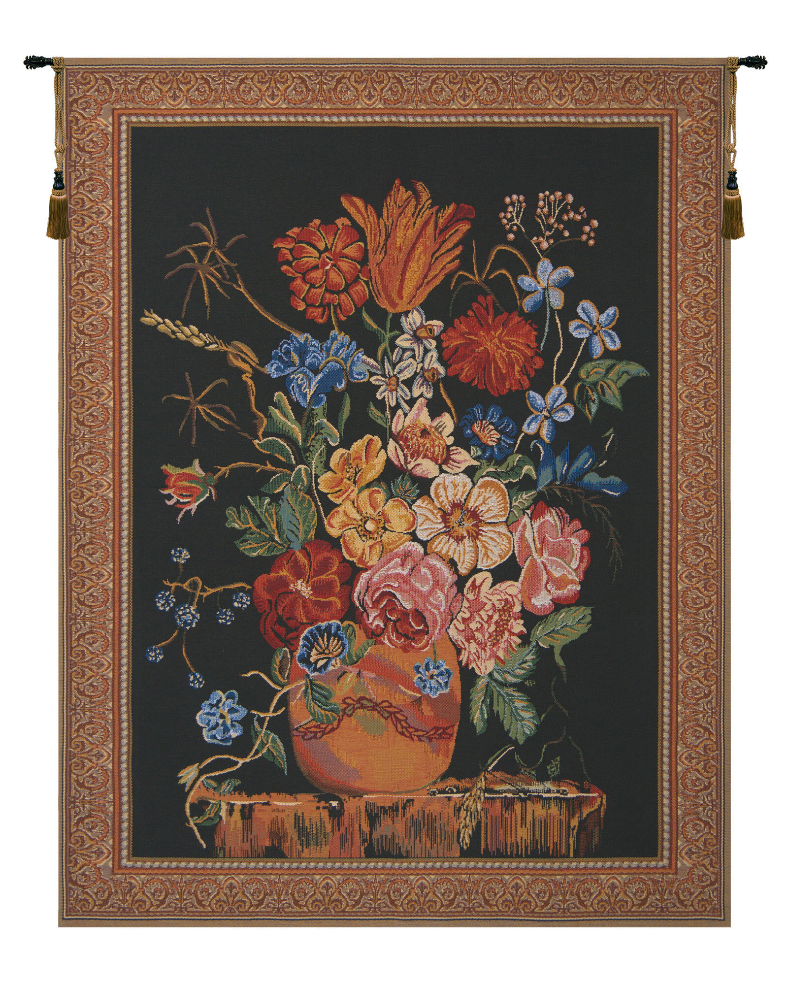 Well Known Verendael Terracotta Wall Hanging Regarding Blended Fabric Ethereal Days Chinoiserie Wall Hangings With Rod (View 5 of 20)