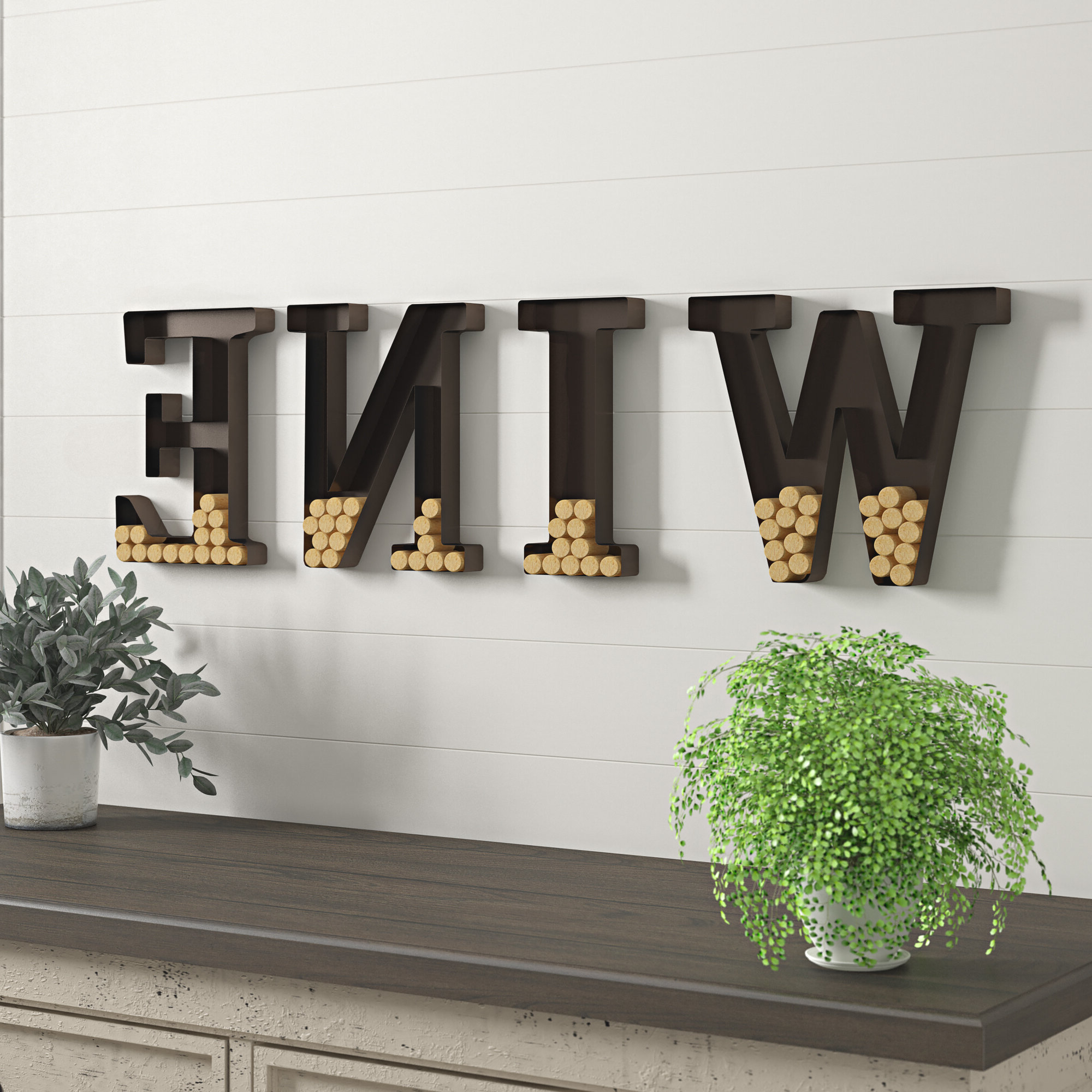 "Well Known Wall Mount ""wine"" Letters Cork Holder Wall Décor In 4 Piece ""wine"" Letter Set Cork Holder Wall Décor Set (View 4 of 20)"