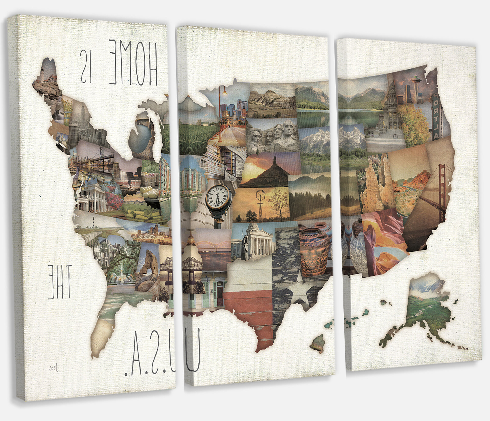 Well Known Wall Mounted World Map Sculpture By Alcott Hill With Regard To 'instastates Monuments Map' Graphic Art Multi Piece Image On Canvas (View 6 of 20)